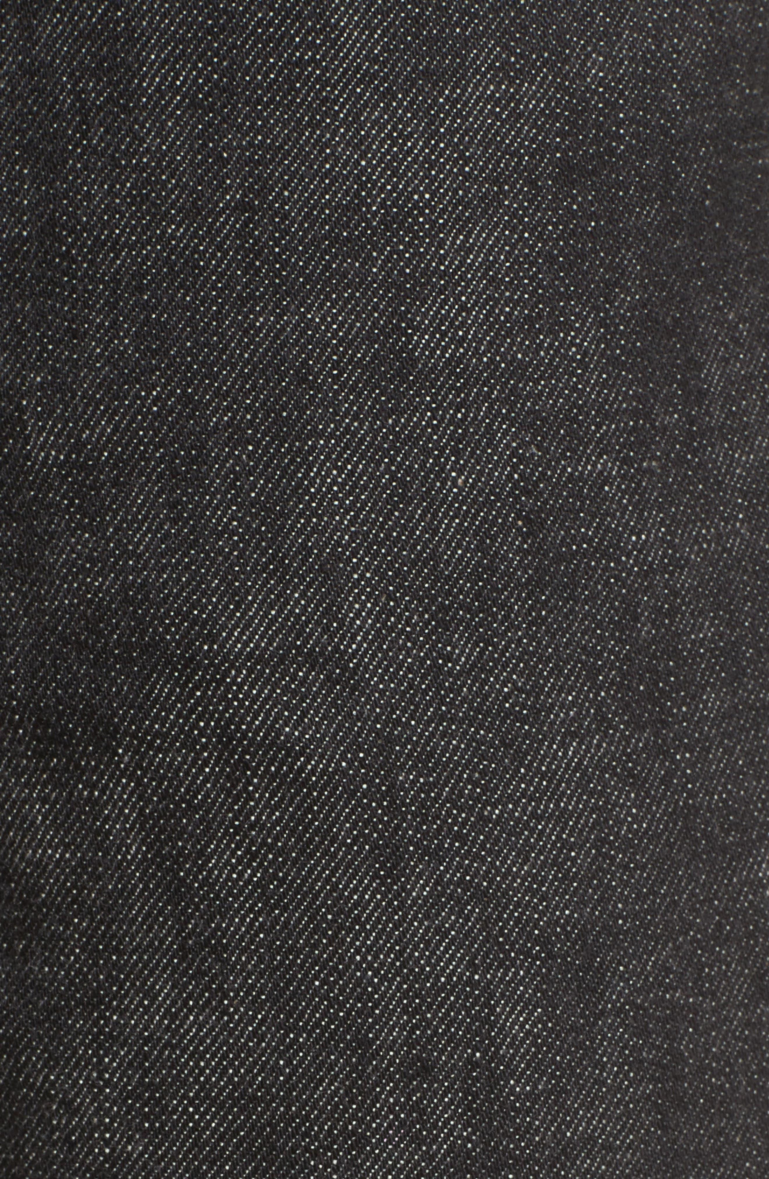 Petite New Standard Jeans,                             Alternate thumbnail 6, color,                             Faux Noir