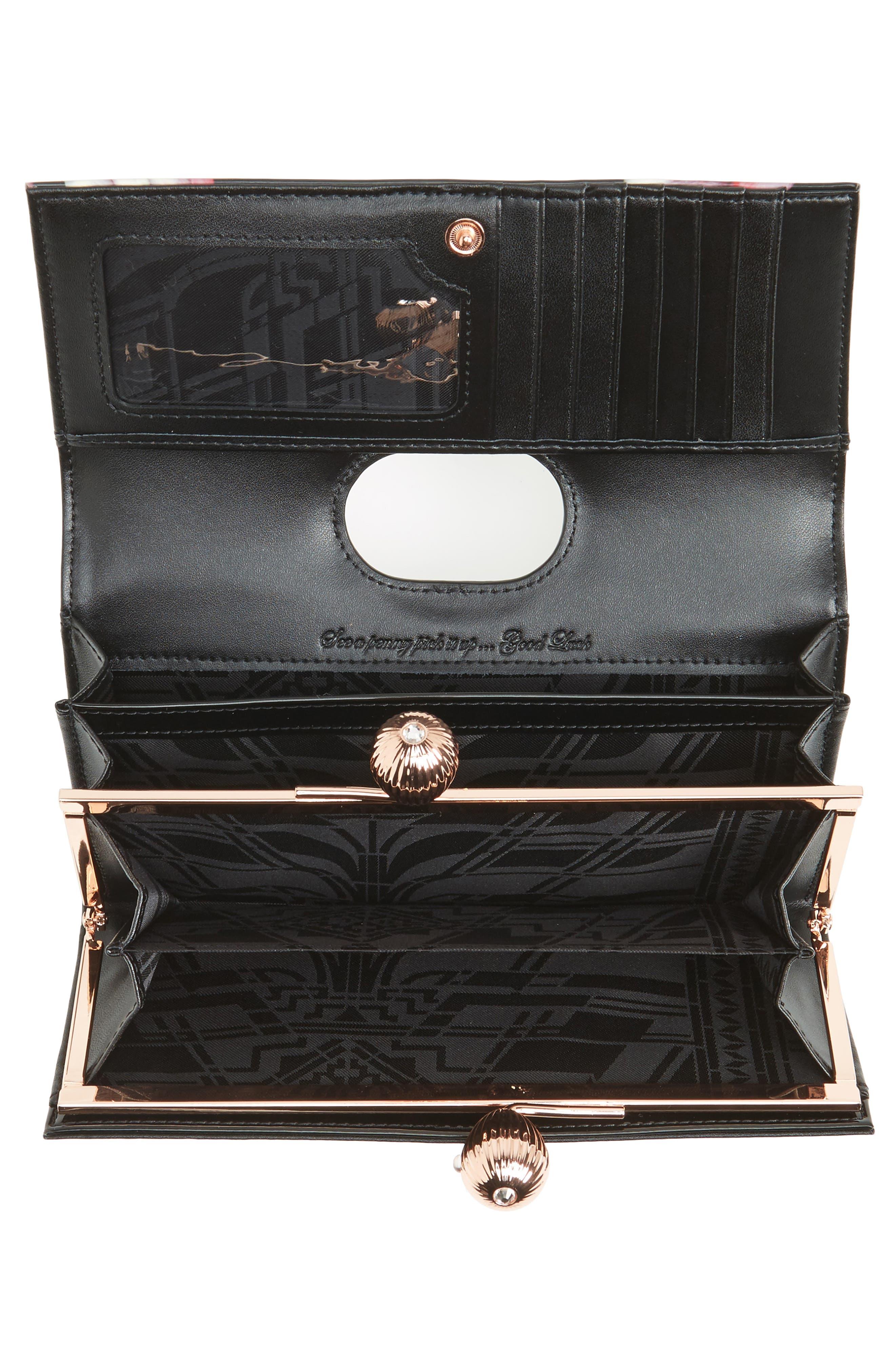 Marcco Kensington Leather Matinée Wallet,                             Alternate thumbnail 2, color,                             Black