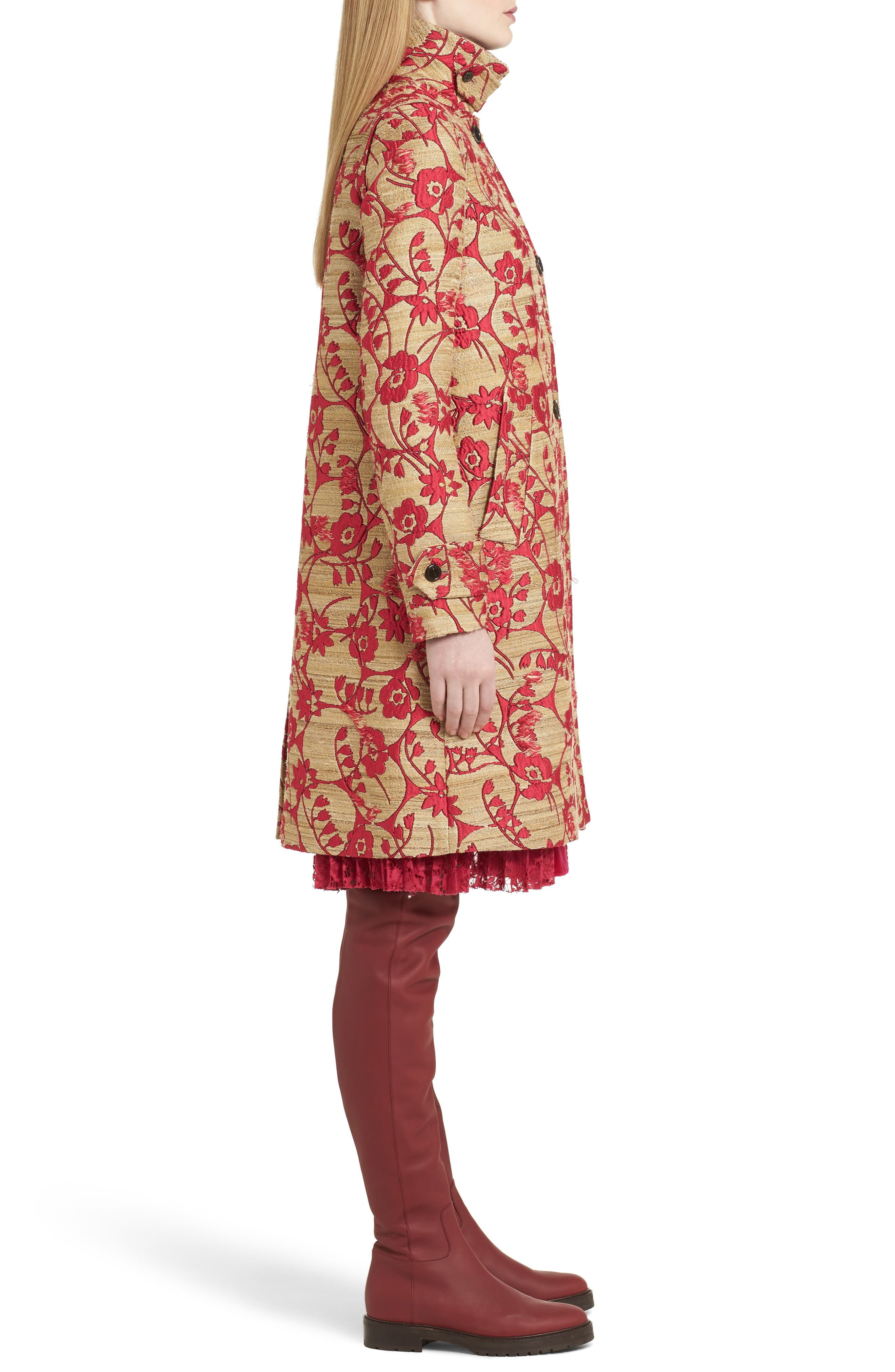 Alternate Image 4  - Valentino Flower Circles Jacquard Coat