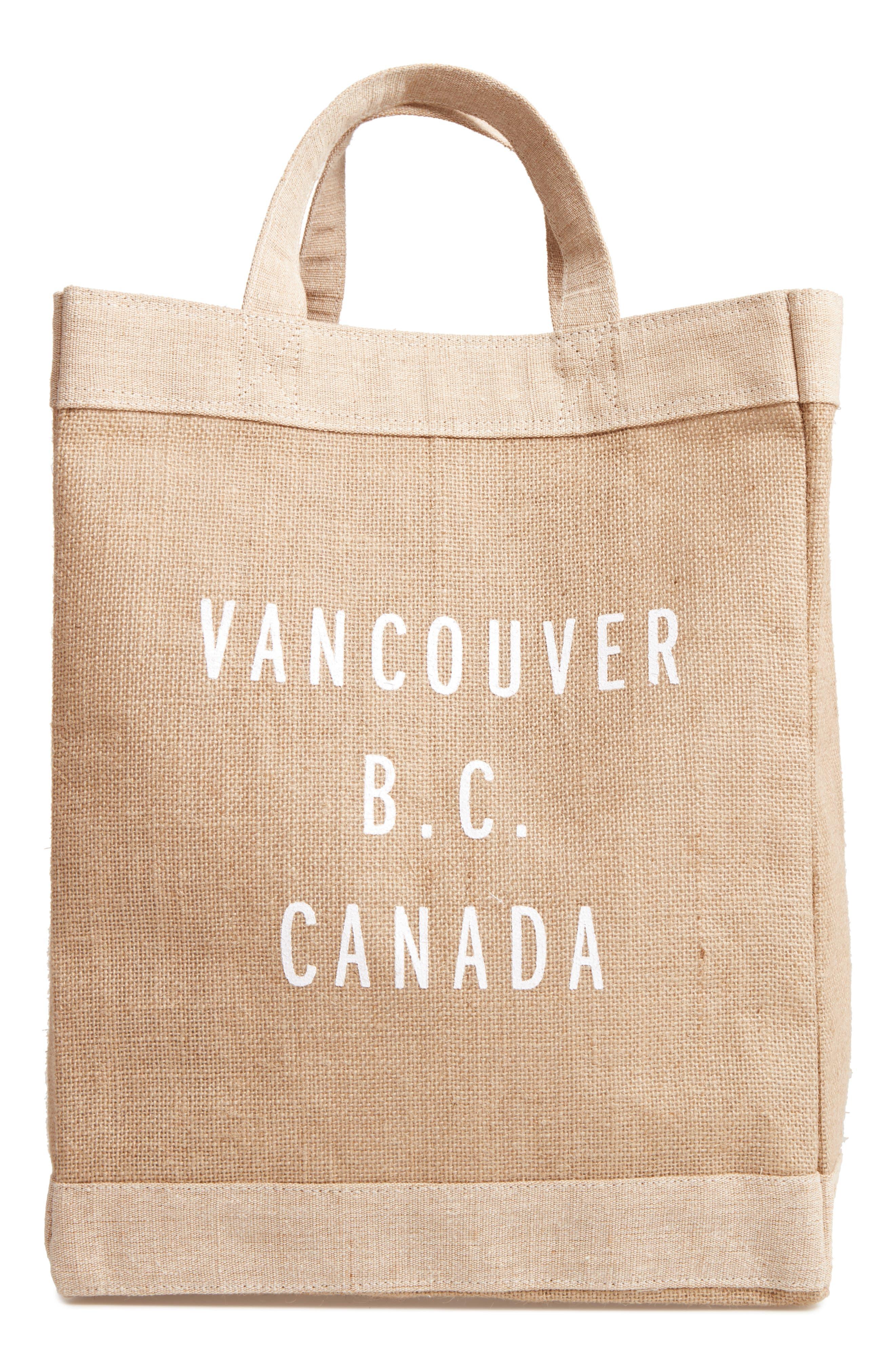 Vancouver Simple Market Bag,                             Main thumbnail 1, color,                             Natural