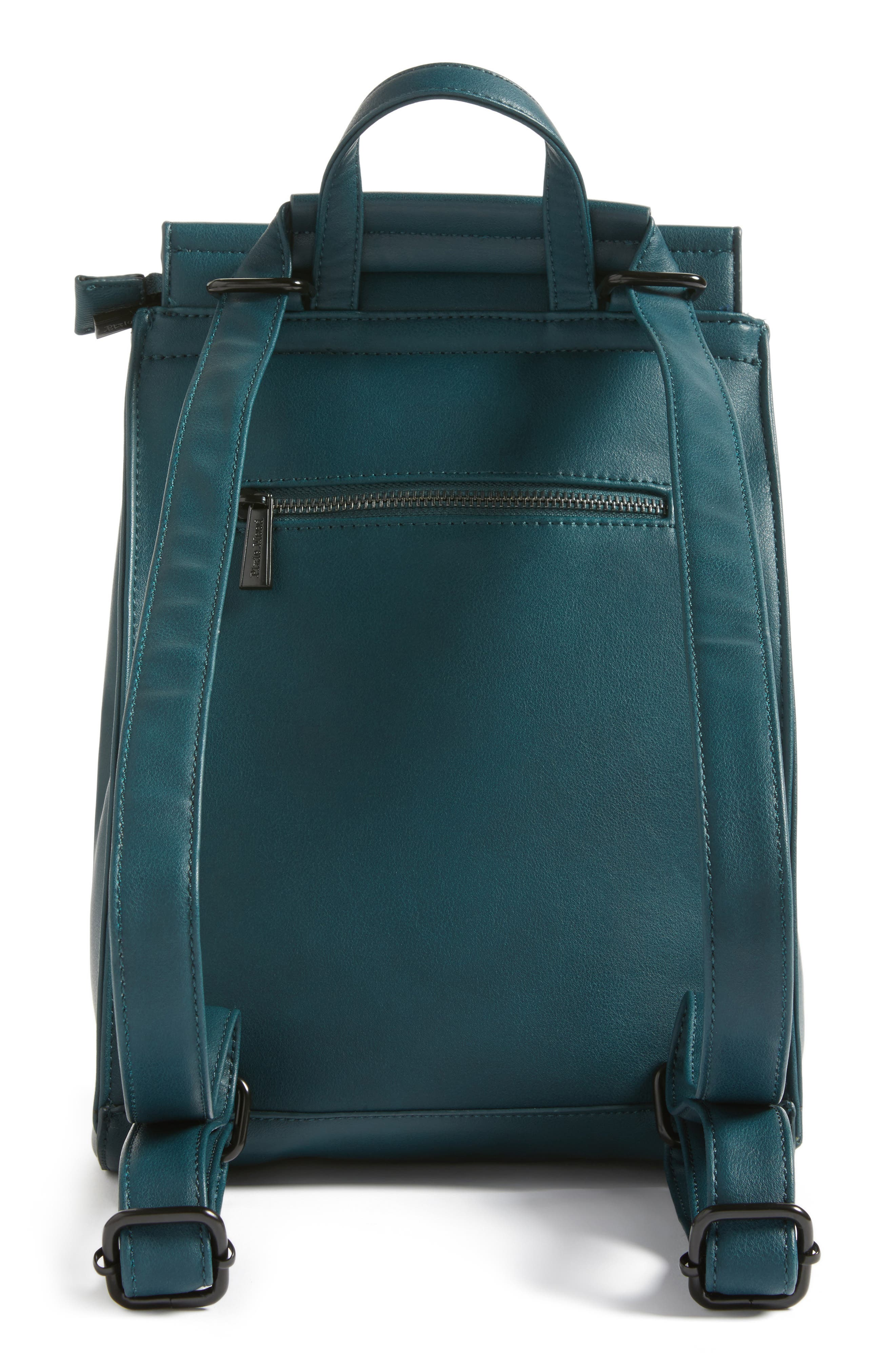 Kim Convertible Faux Leather Backpack,                             Alternate thumbnail 2, color,                             Green