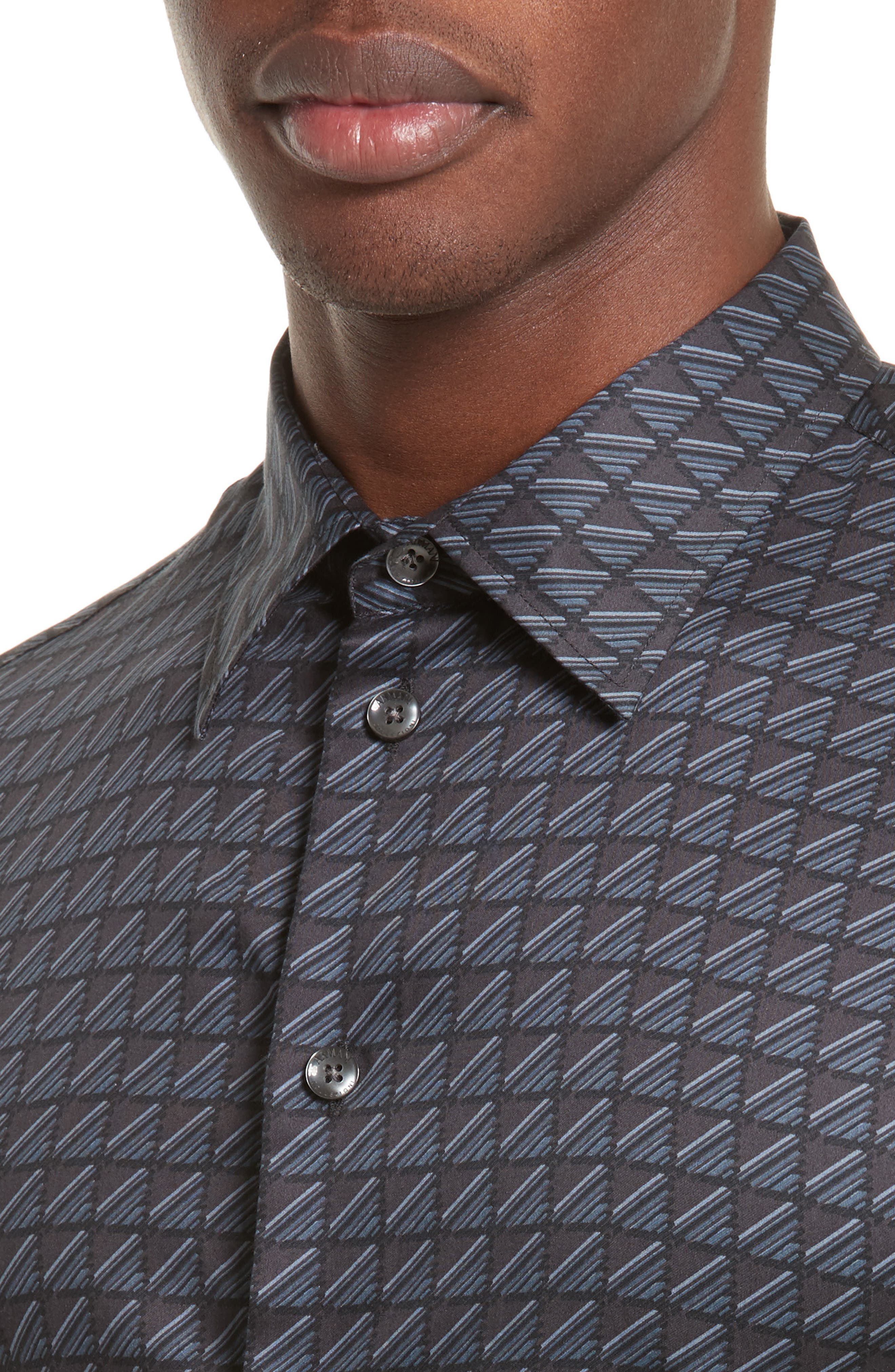 Alternate Image 4  - Armani Collezioni Regular Fit Geo Print Sport Shirt