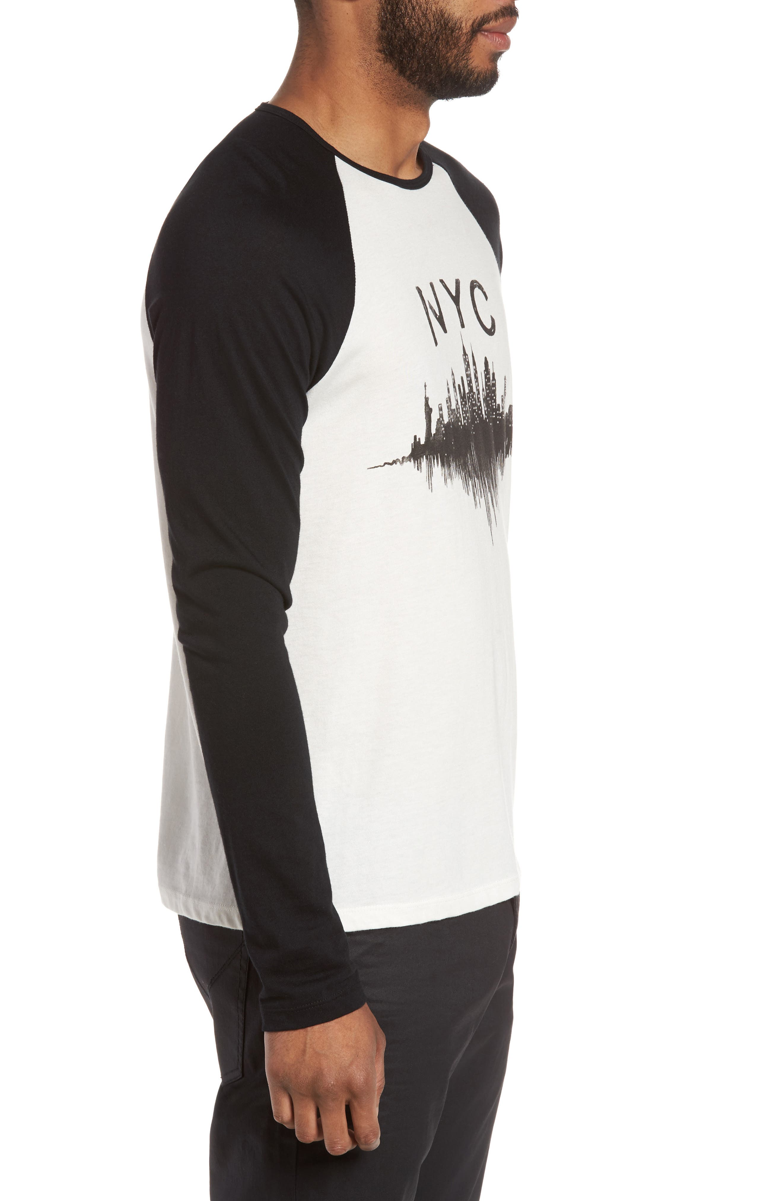 Alternate Image 3  - John Varvatos Star USA NYC Graphic Raglan Sleeve T-Shirt
