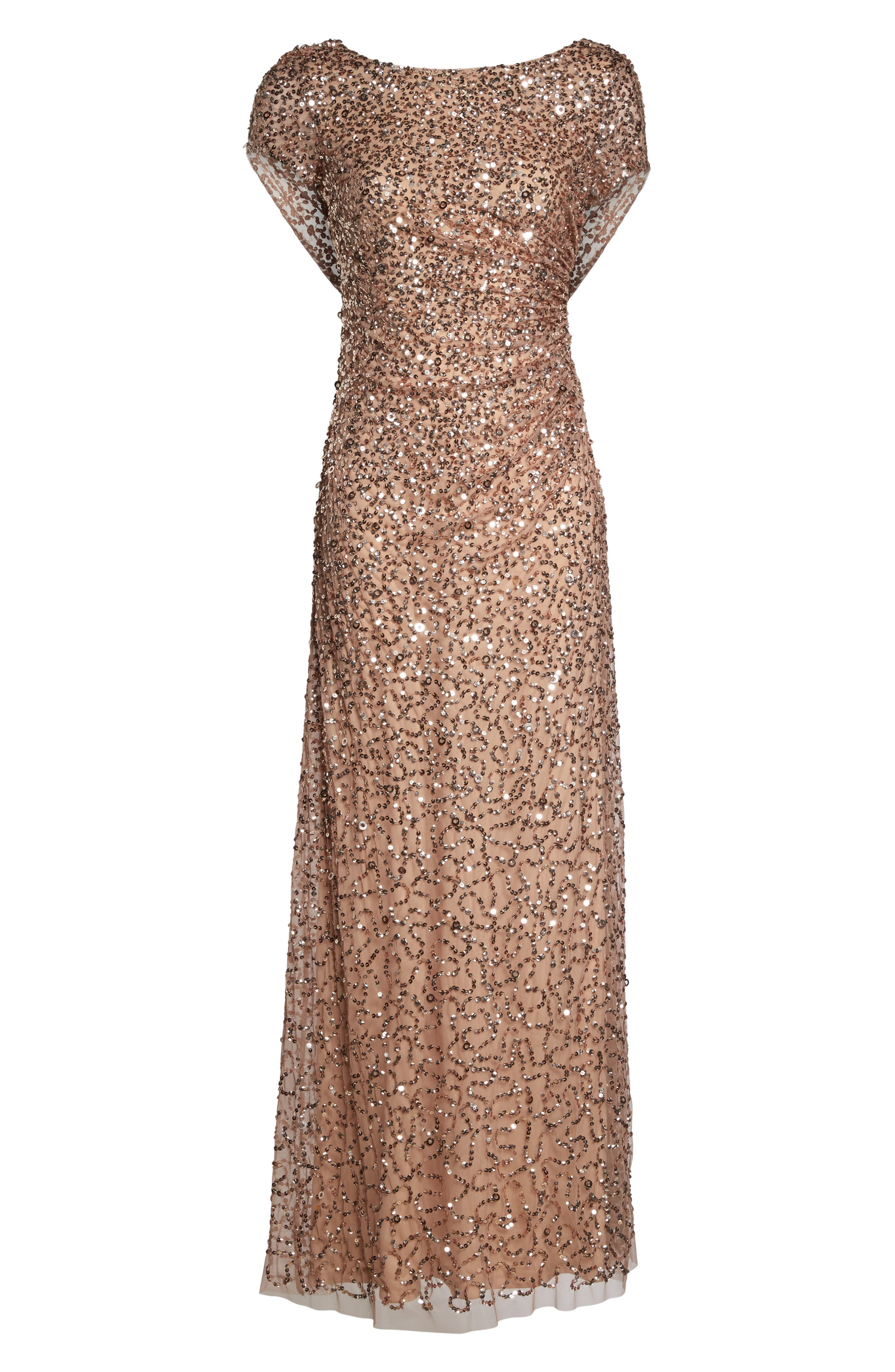 Alternate Image 6  - Adrianna Papell Sequin Cowl Back Gown (Regular & Petite)