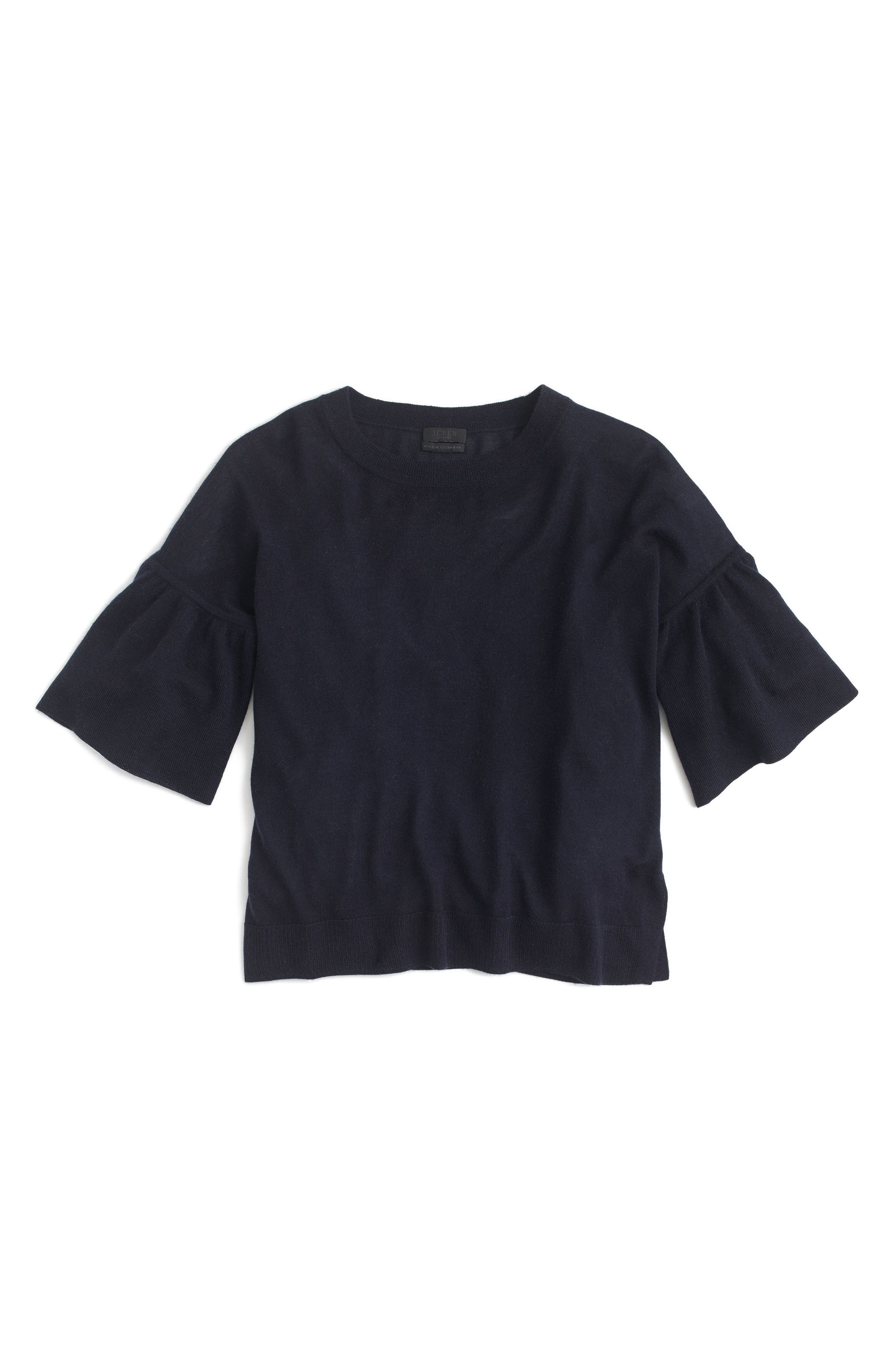 Alternate Image 3  - J.Crew Featherweight Cashmere Ruffle Sleeve Sweater
