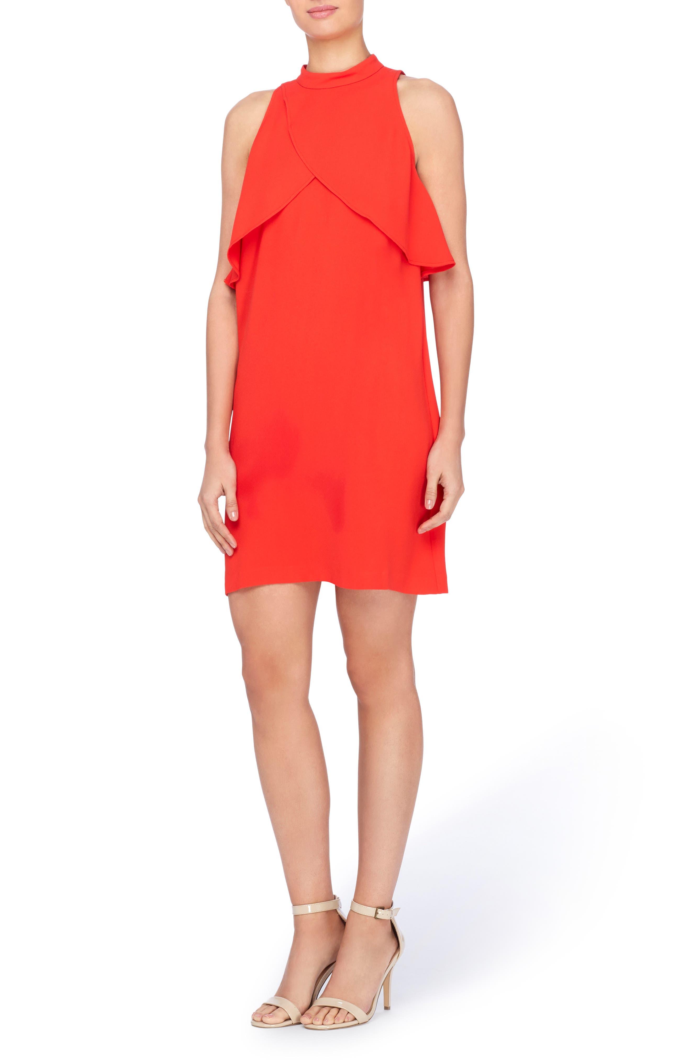 Aldridge Dress,                         Main,                         color, Tomato Red
