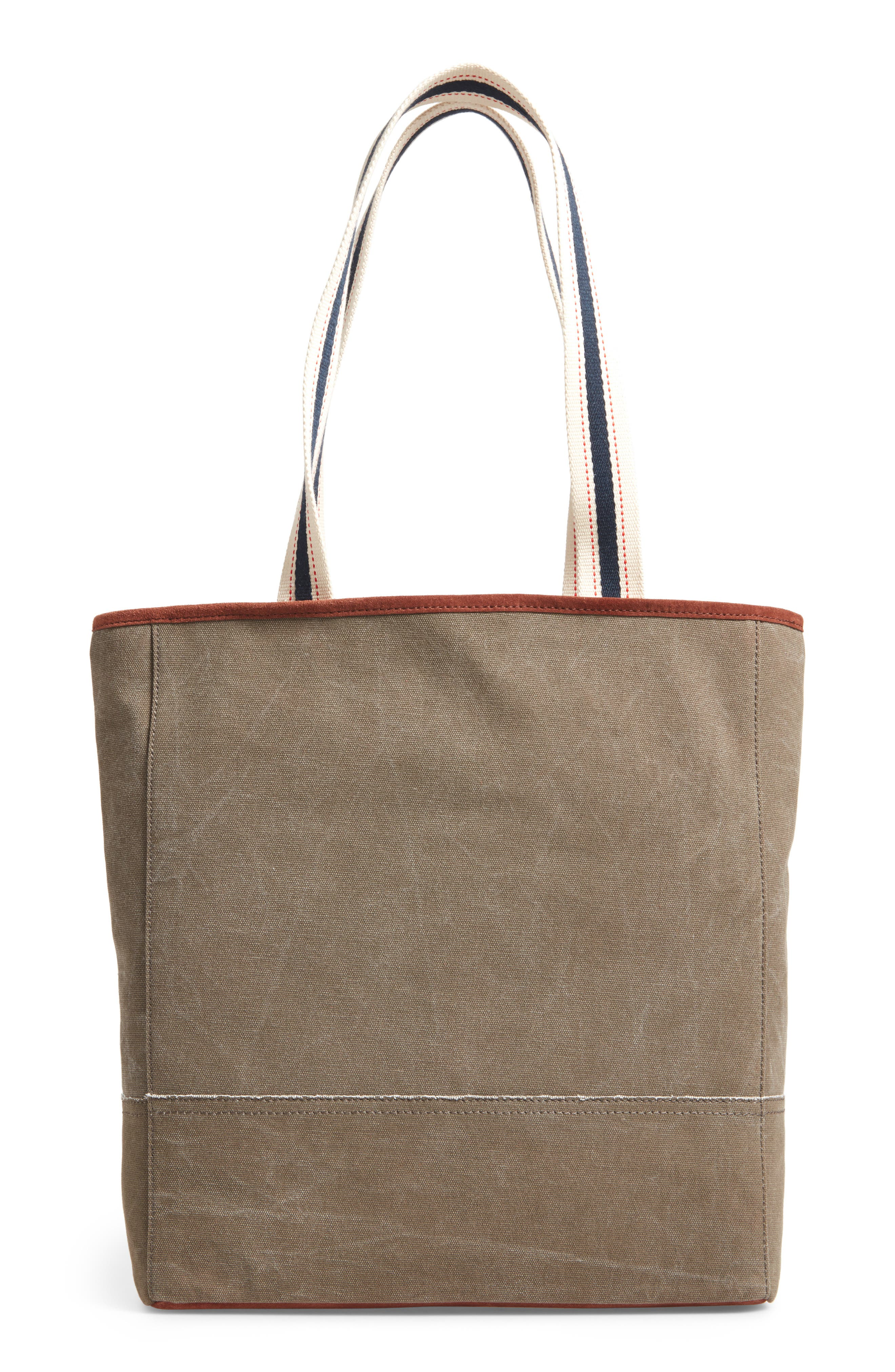 Dakin Canvas & Leather Tote,                             Alternate thumbnail 2, color,                             Lichen/ Dark Umber