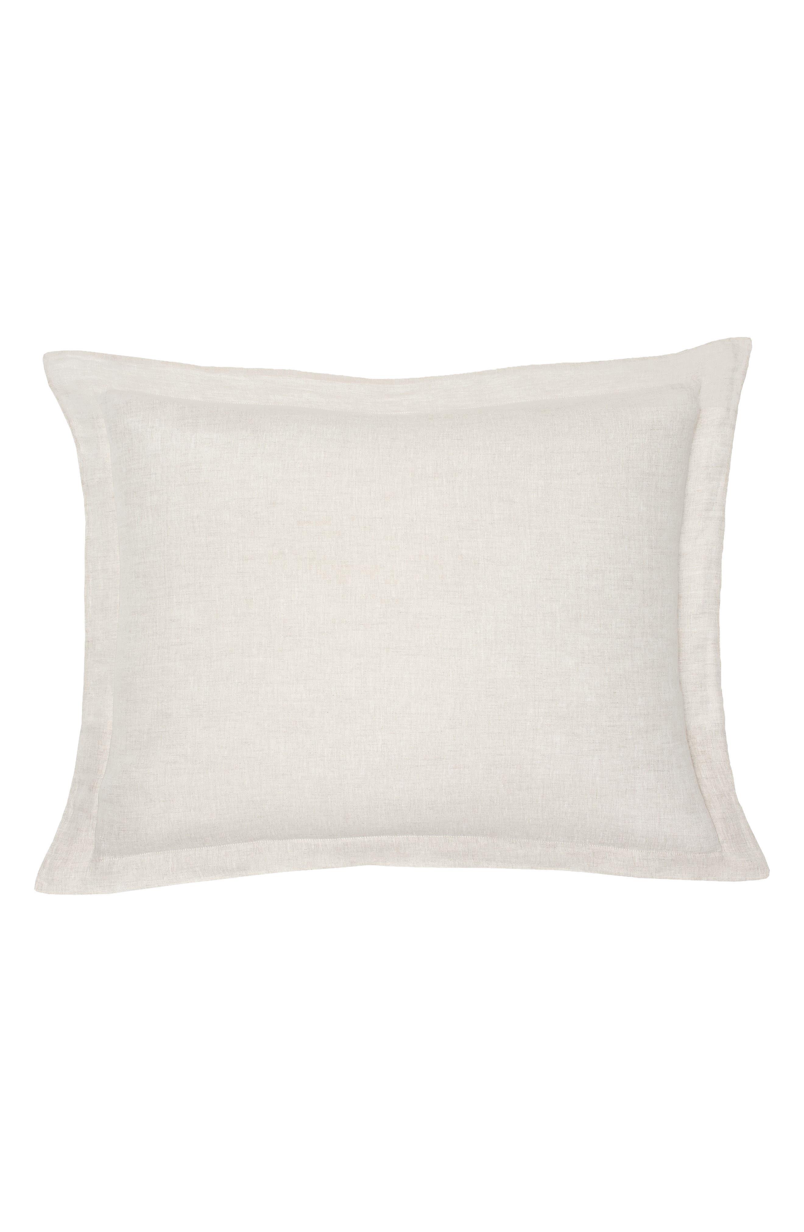 Lino Linen Sham,                         Main,                         color, Linen