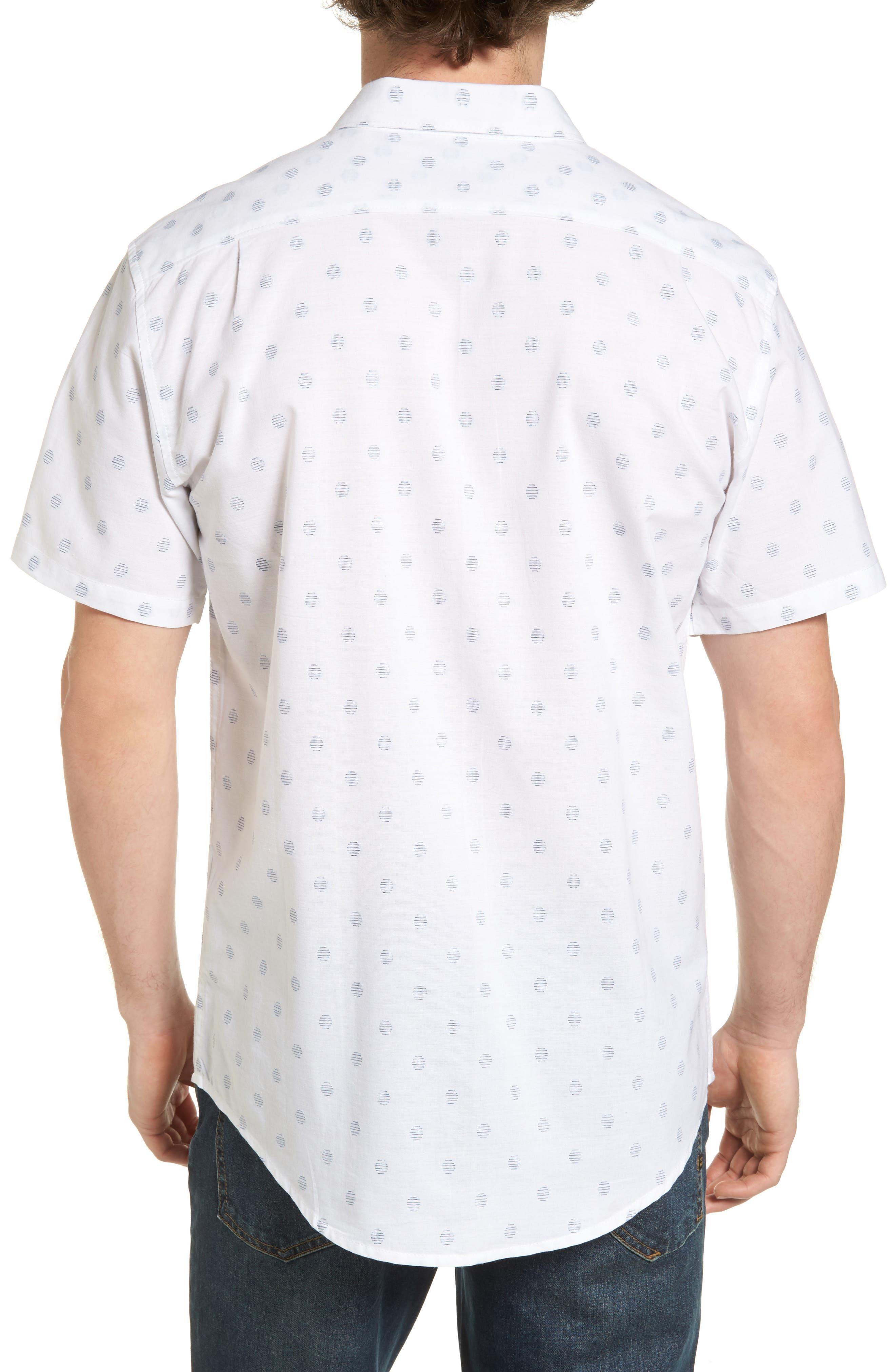 Cruisin Dobby Woven Shirt,                             Alternate thumbnail 2, color,                             White