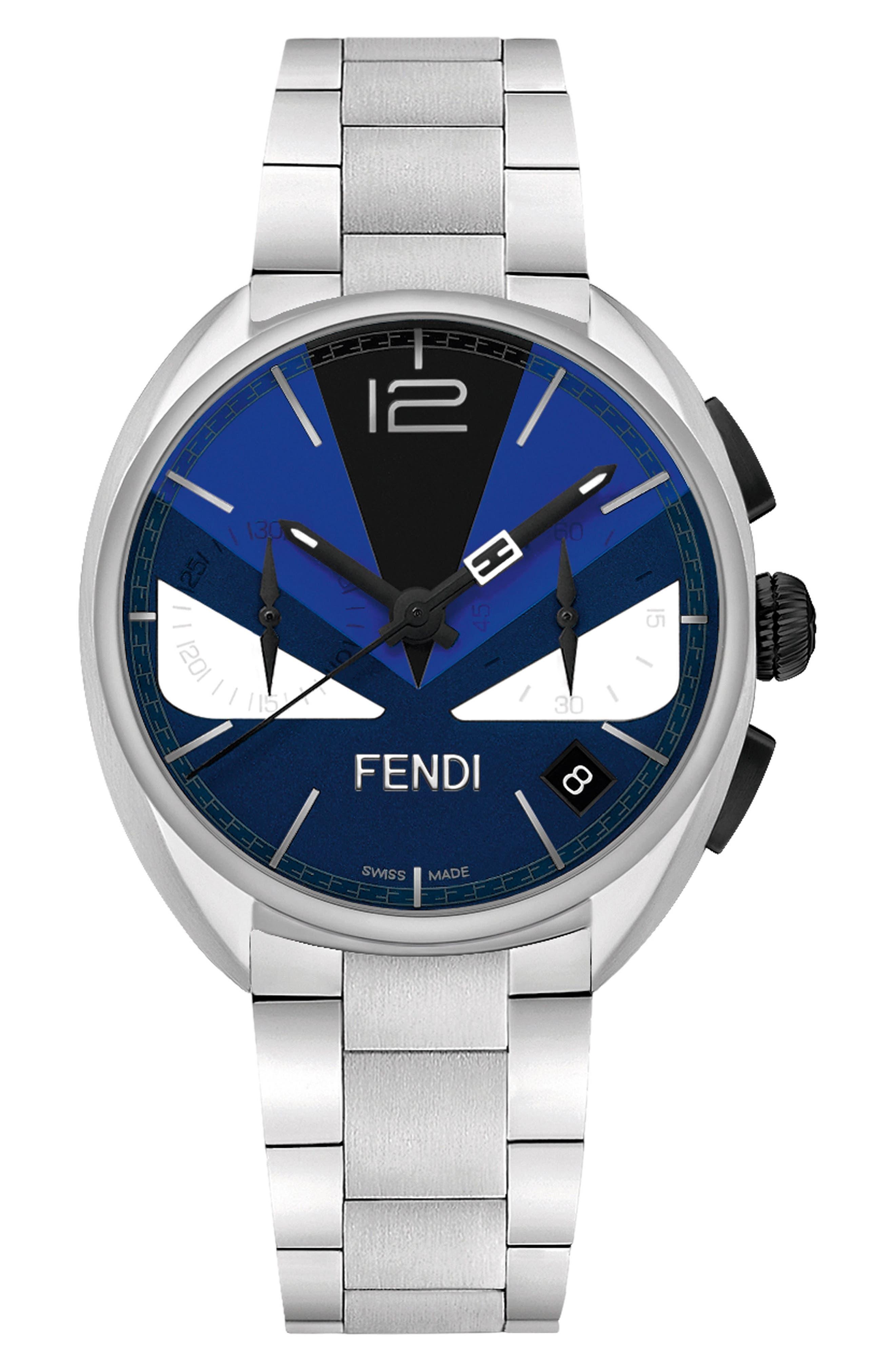 Alternate Image 1 Selected - Fendi Momento Bug Chronograph Bracelet Watch, 40mm
