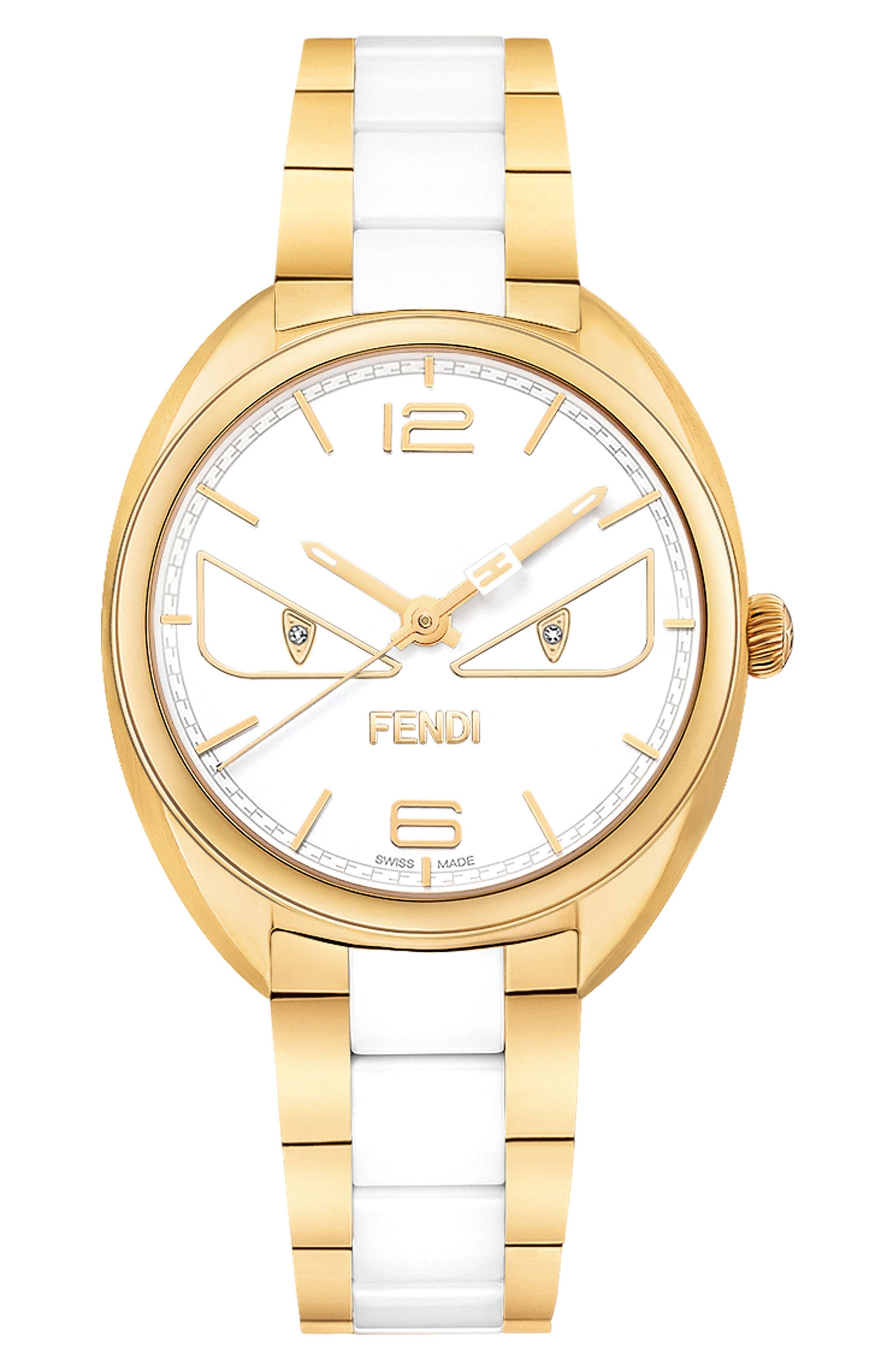Main Image - Fendi Momento Bug Bracelet Watch, 34mm