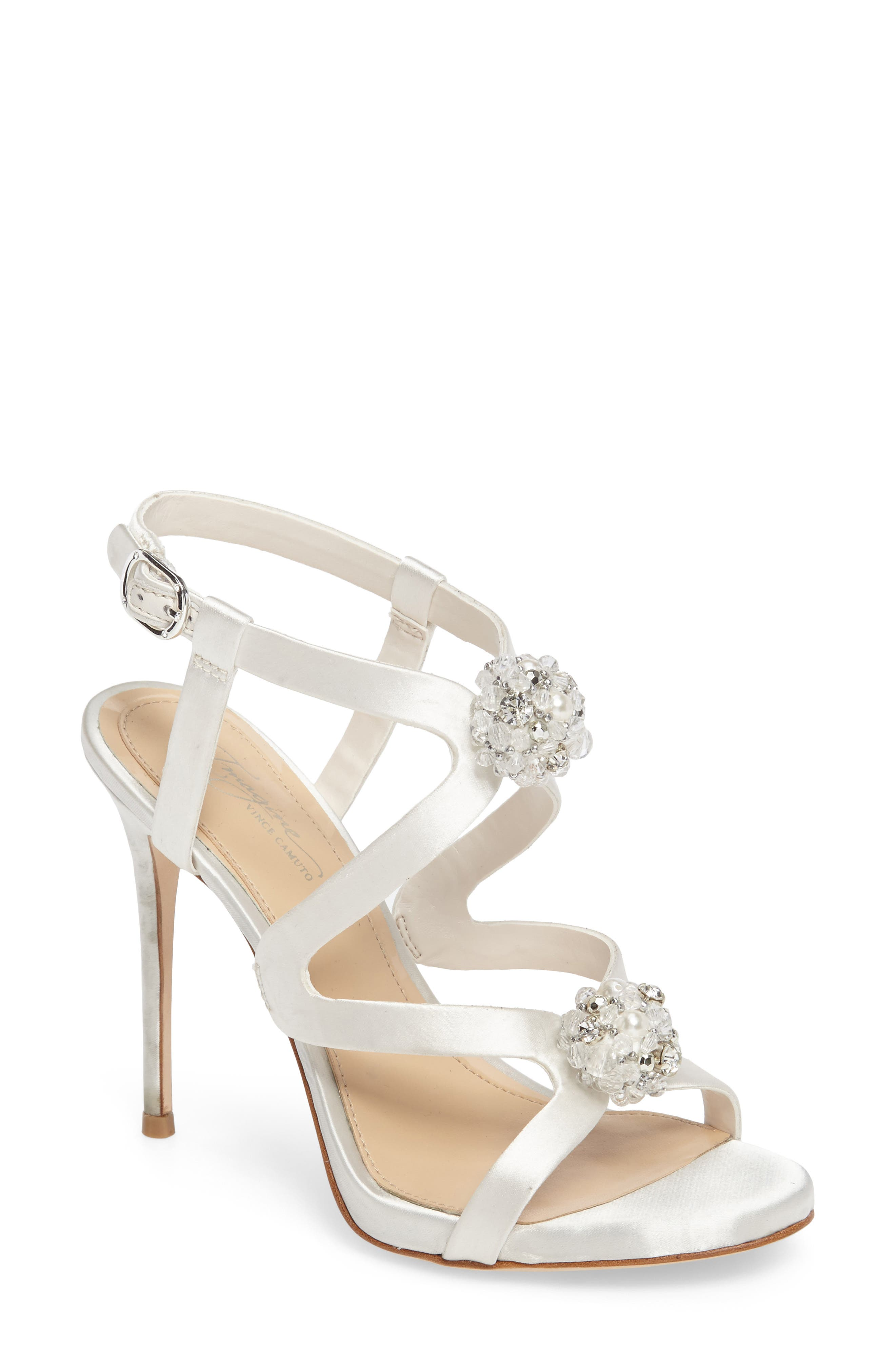 Daija Sandal,                             Main thumbnail 1, color,                             Ivory Satin