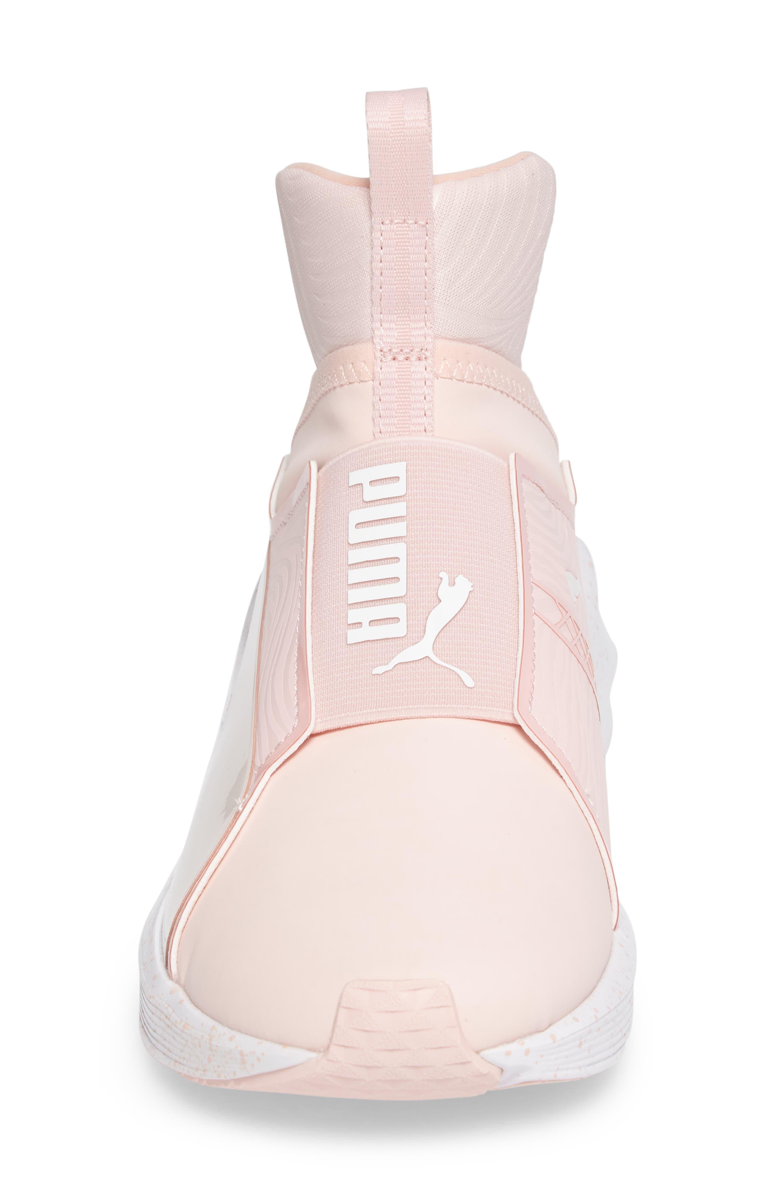 Fierce Bleached High Top Sneaker,                             Alternate thumbnail 4, color,                             Veiled Rose/ Whisper White