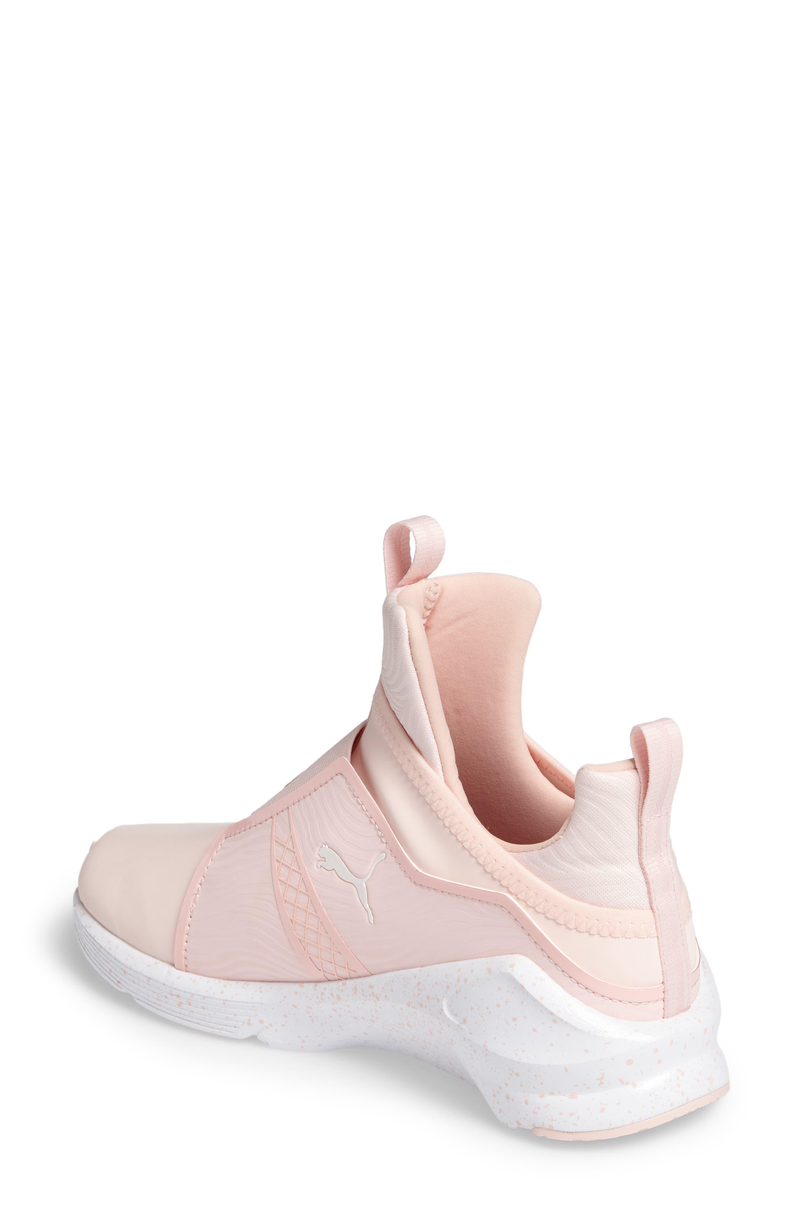 Fierce Bleached High Top Sneaker,                             Alternate thumbnail 2, color,                             Veiled Rose/ Whisper White
