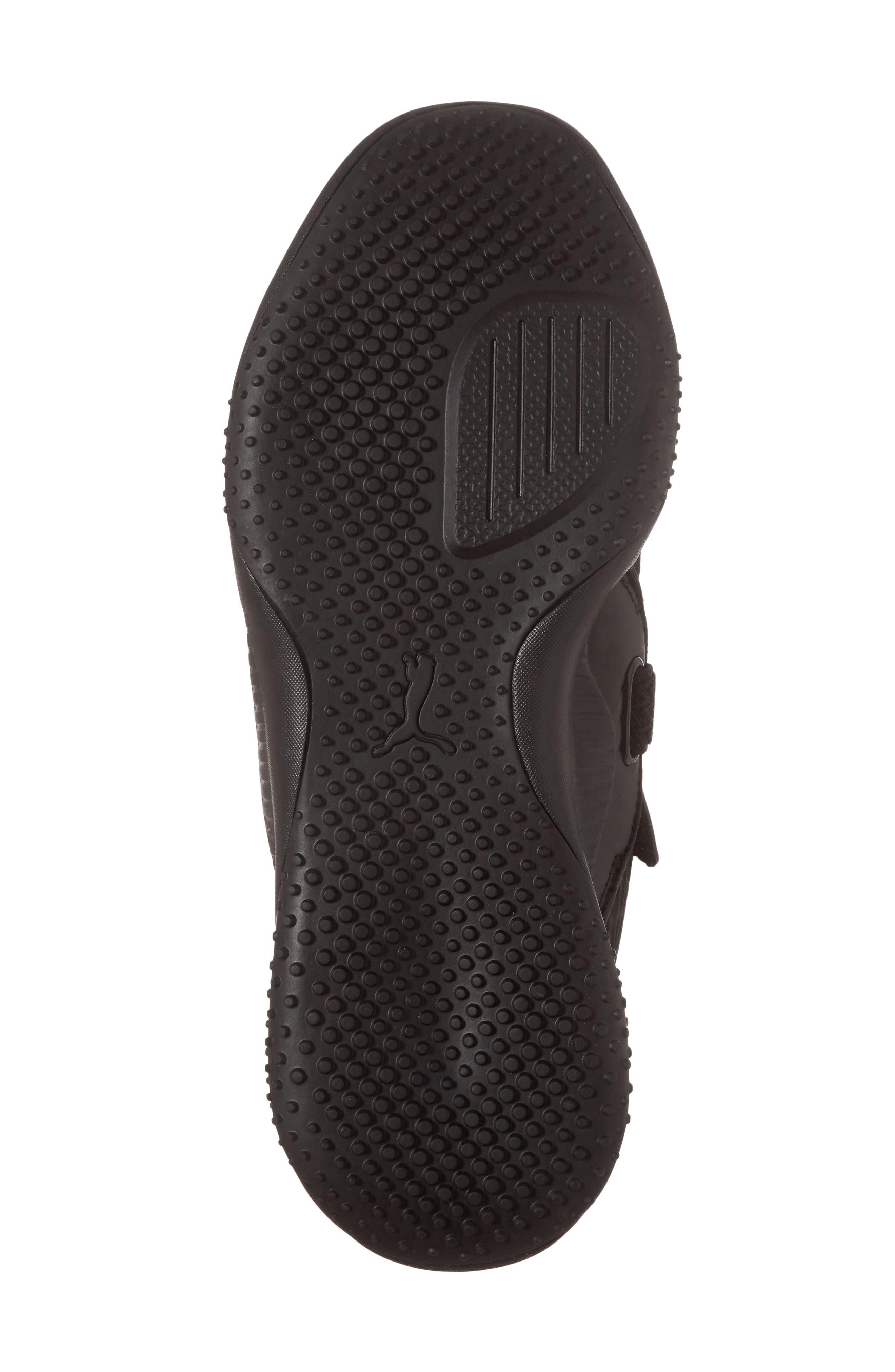 Mostro Fashion Sneaker,                             Alternate thumbnail 6, color,                             Puma Black/ Puma Black