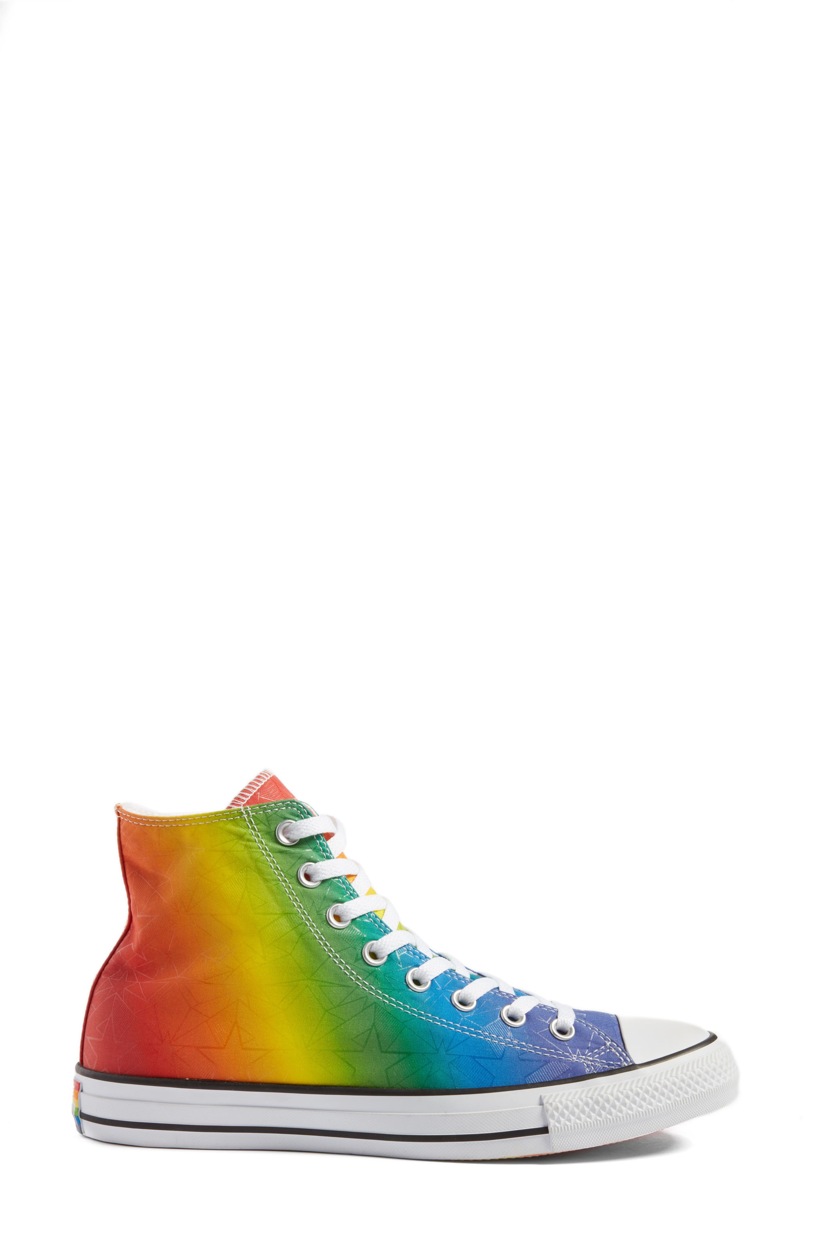 Chuck Taylor<sup>®</sup> All Star<sup>®</sup> Pride High Top Sneaker,                             Alternate thumbnail 3, color,                             Purple