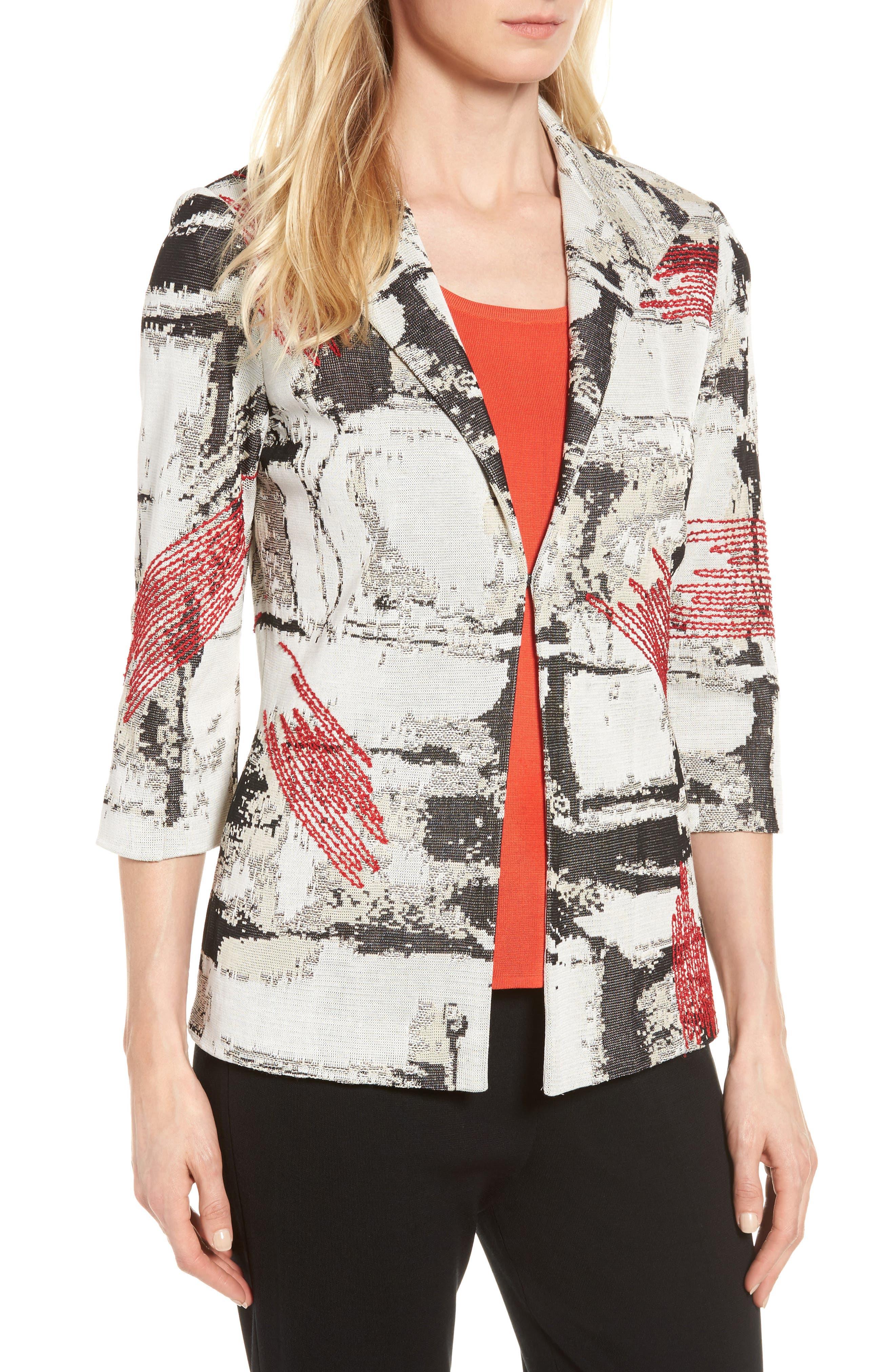 Alternate Image 4  - Ming Wang Three-Quarter Sleeve Jacket