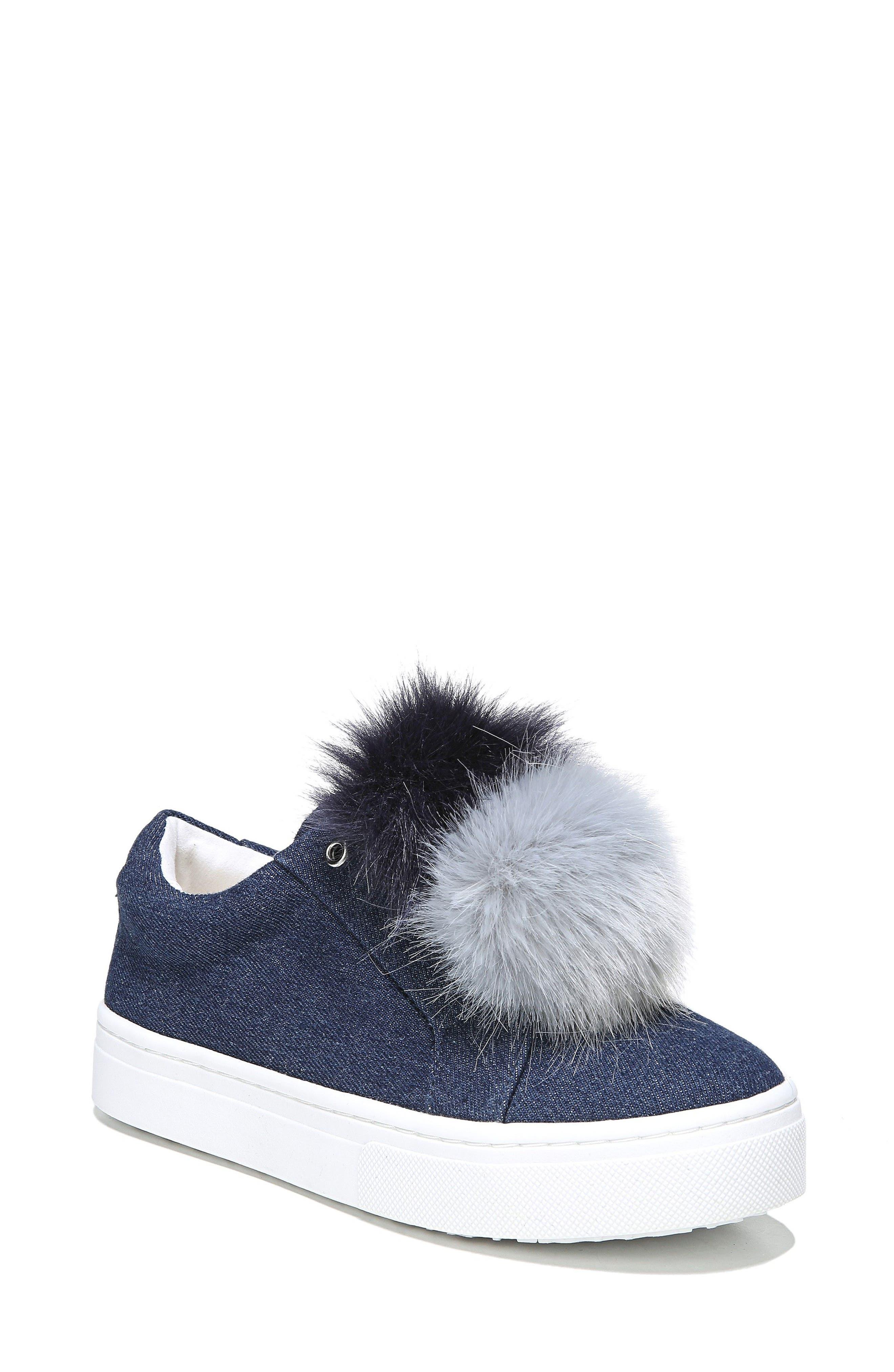 Sam Edelman 'Leya' Faux Fur Laceless Sneaker (Women)