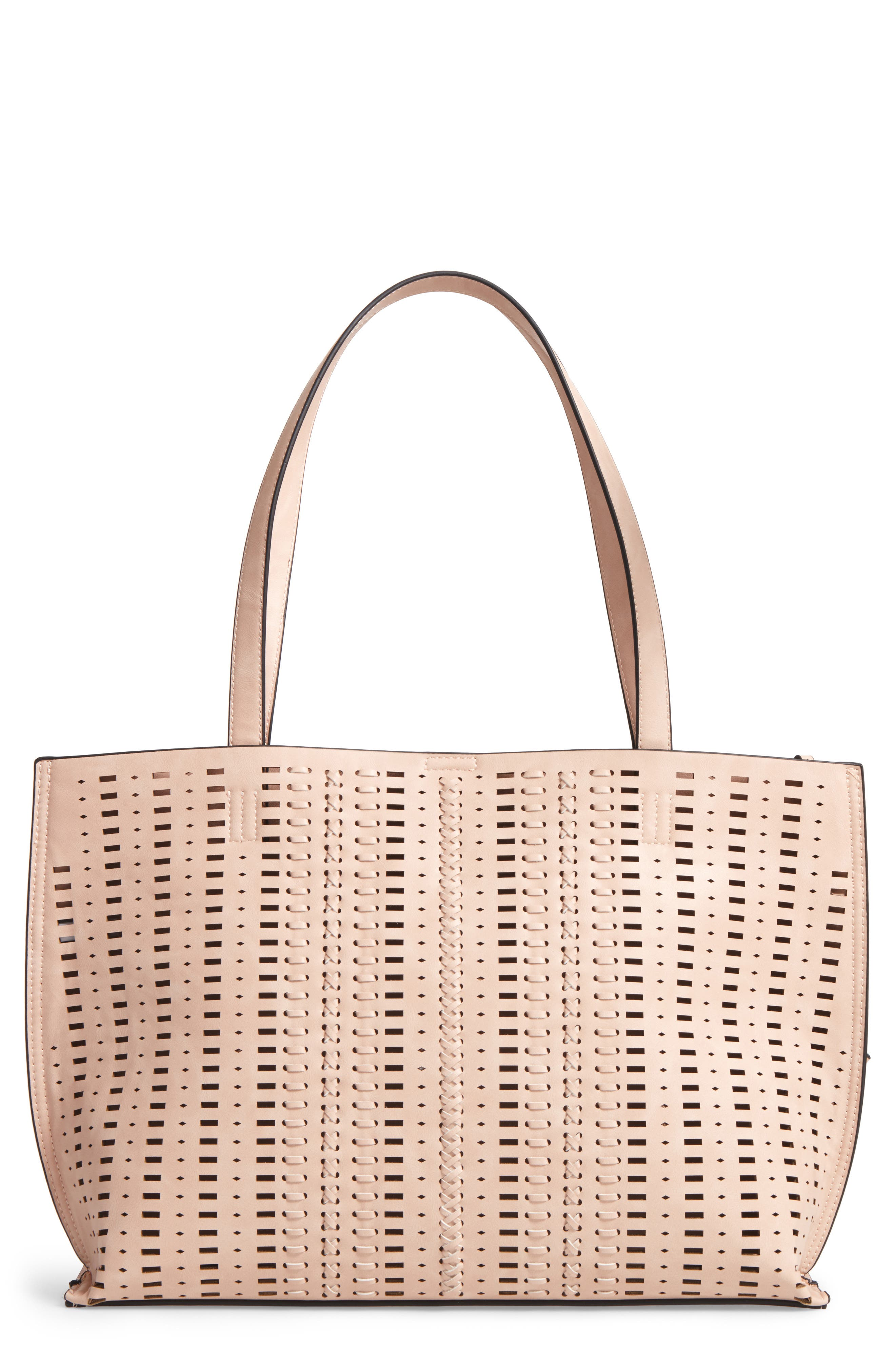 PHASE 3 Woven Faux Leather Tote