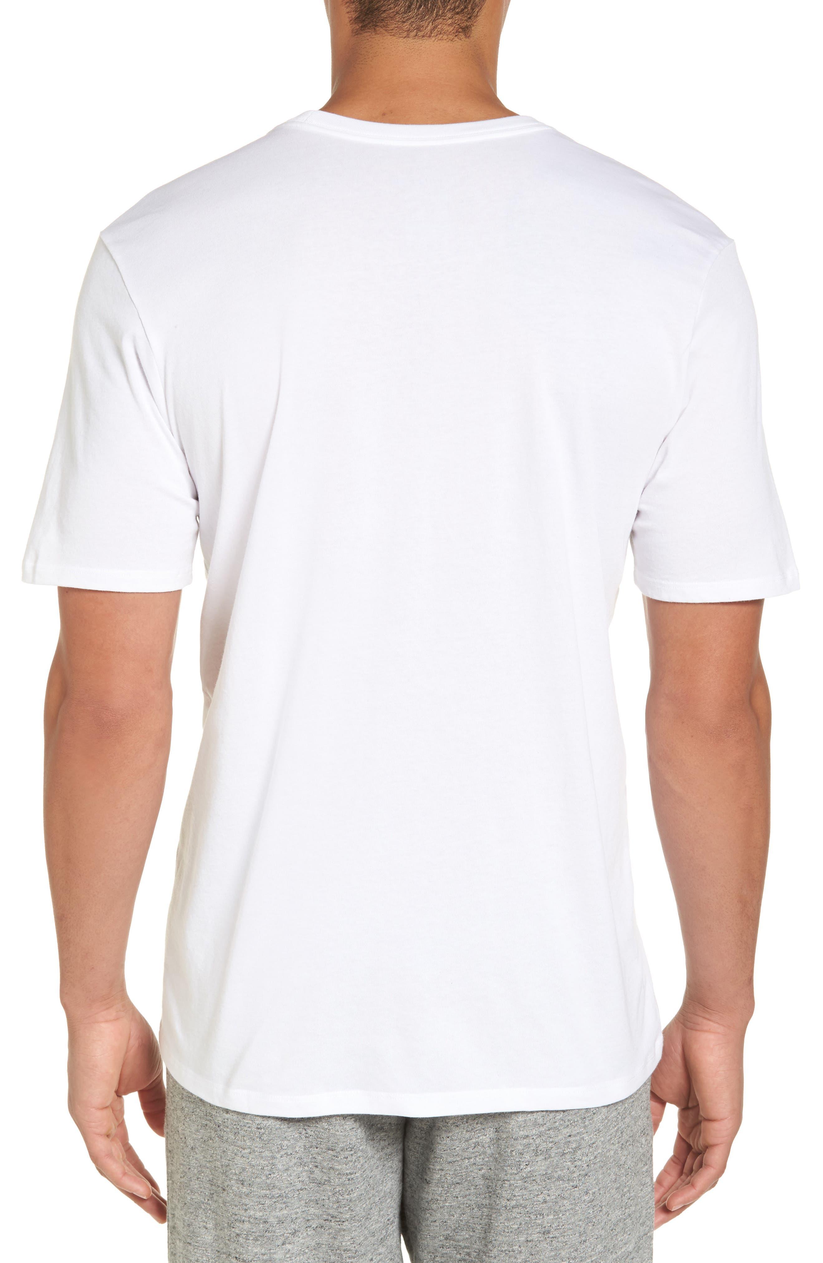 Dry No Excuses Training T-Shirt,                             Alternate thumbnail 2, color,                             White