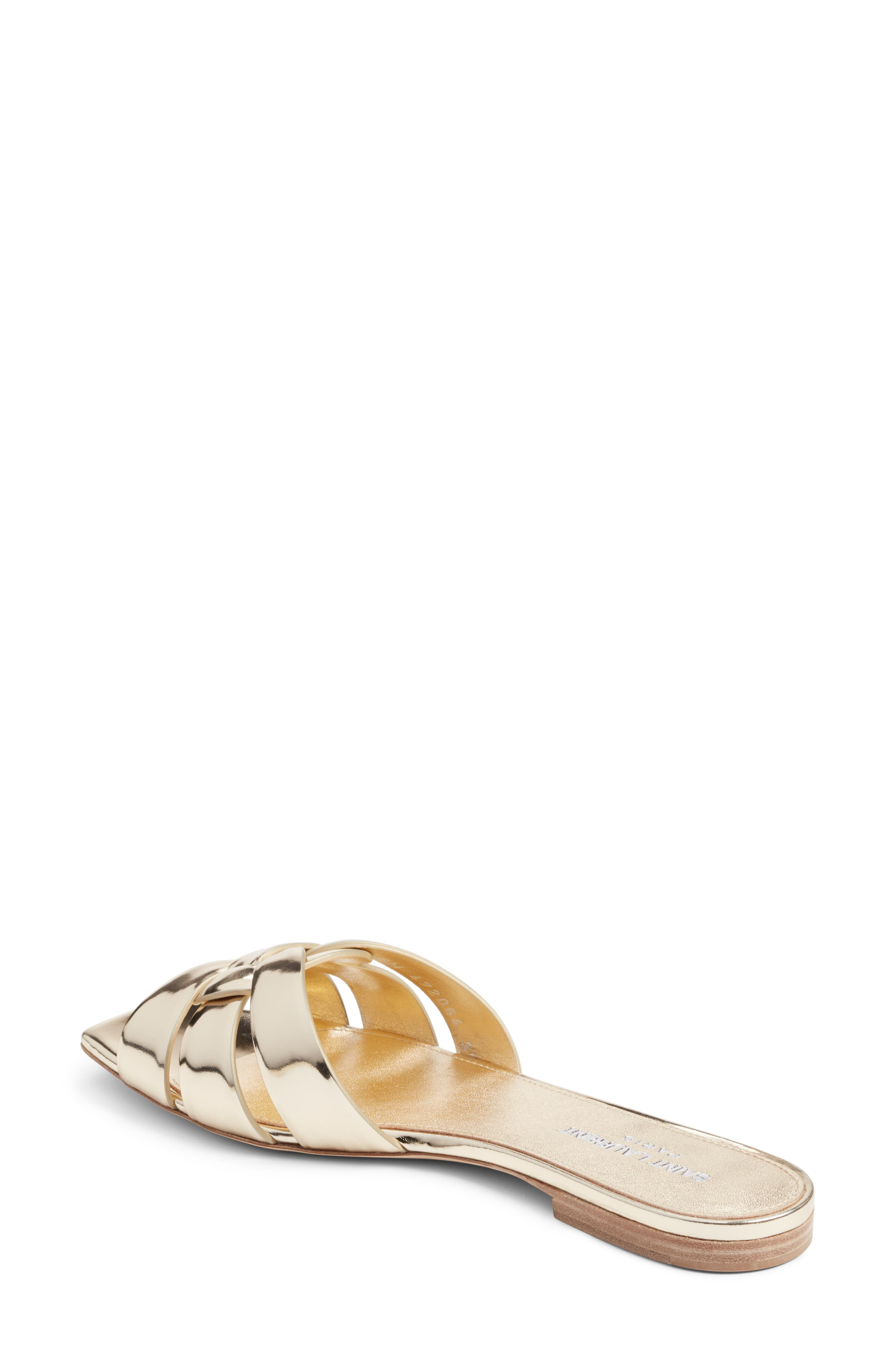 Tribute Slide Sandal,                             Alternate thumbnail 2, color,                             Metallic Gold