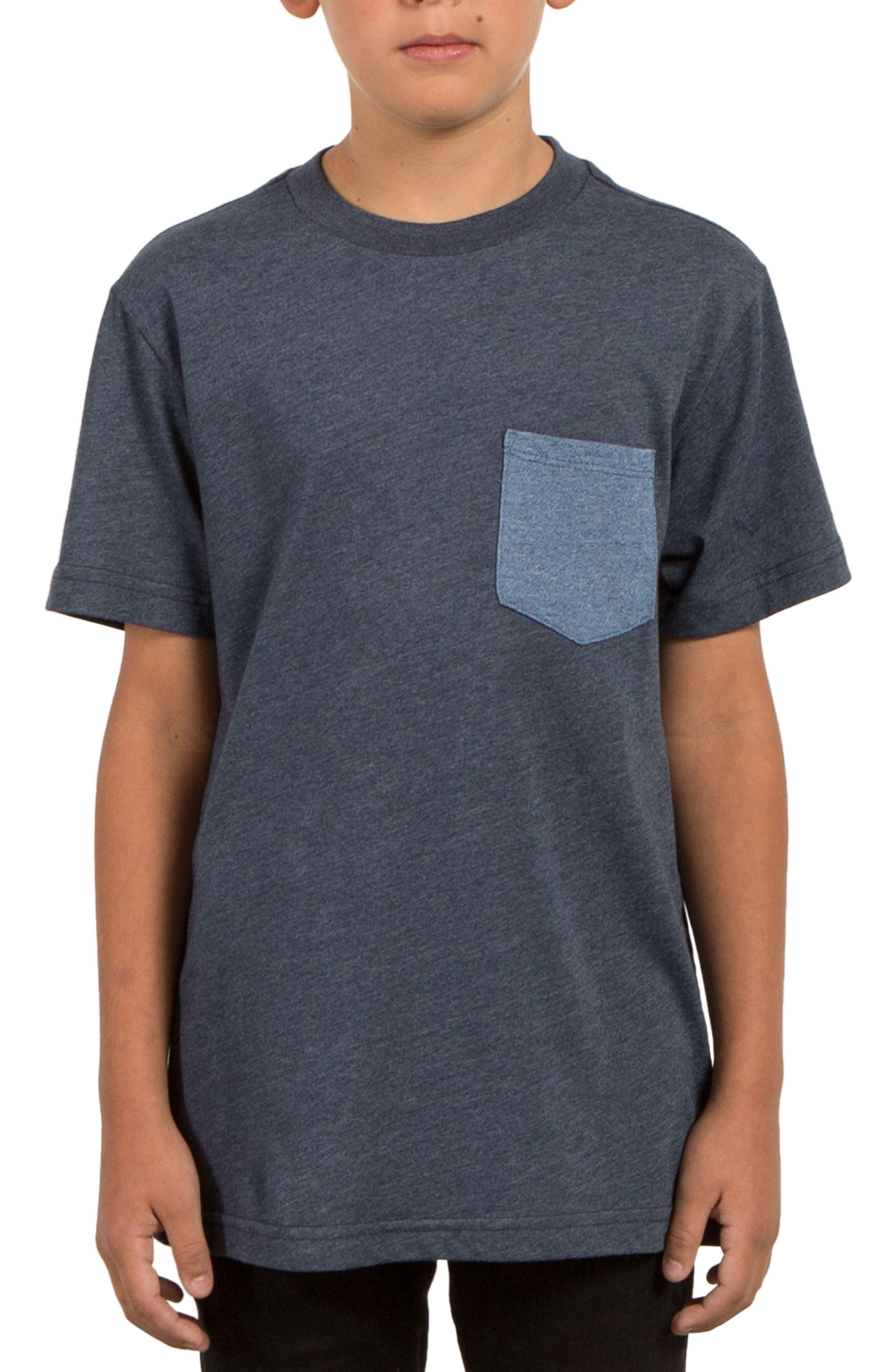 Twisted Pocket T-Shirt,                             Main thumbnail 1, color,                             Indigo