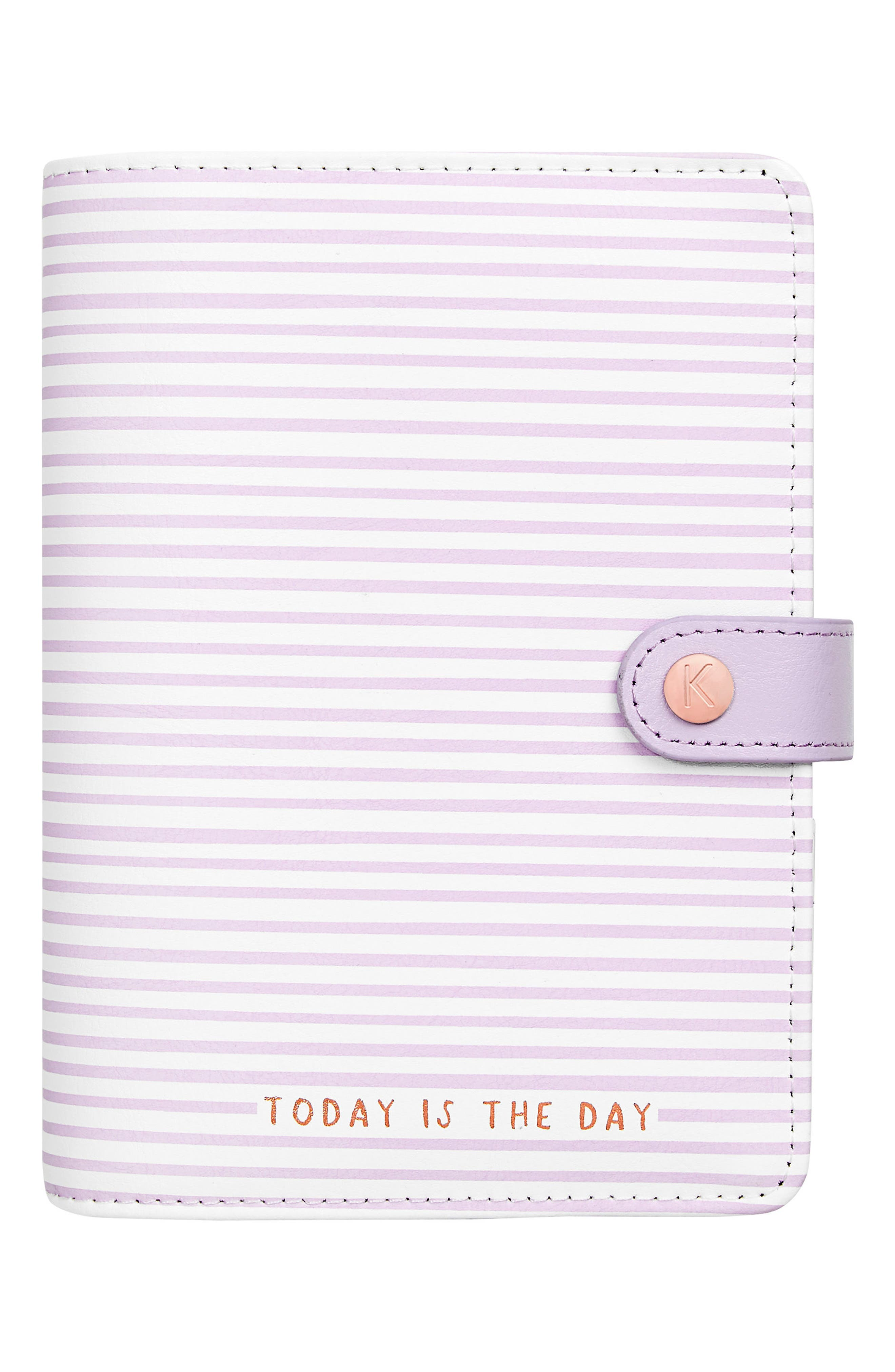 Medium Leather Planner,                         Main,                         color, Soft Lilac