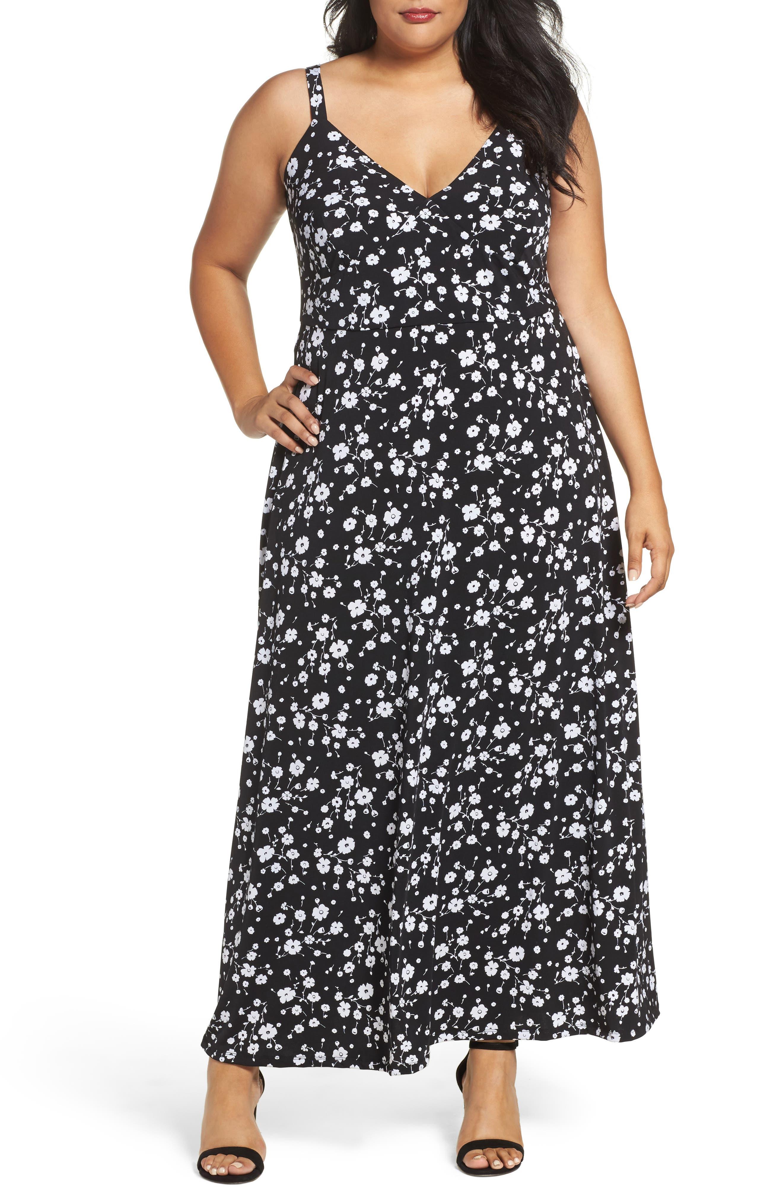 MICHAEL Michael Kors Verbena A-Line Jersey Maxi Dress (Plus Size)