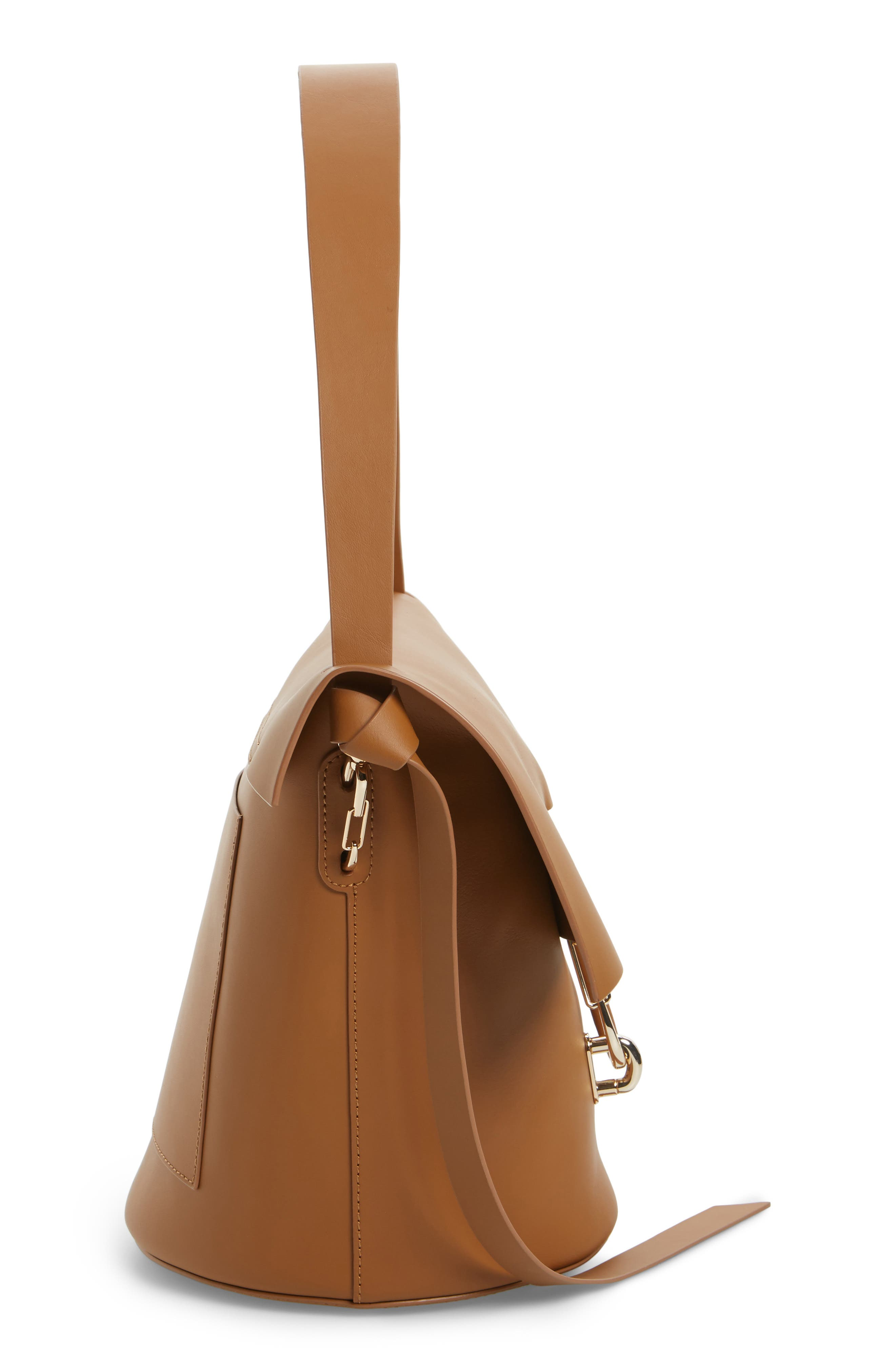 Belay Leather Bucket Bag,                             Alternate thumbnail 4, color,                             Camel