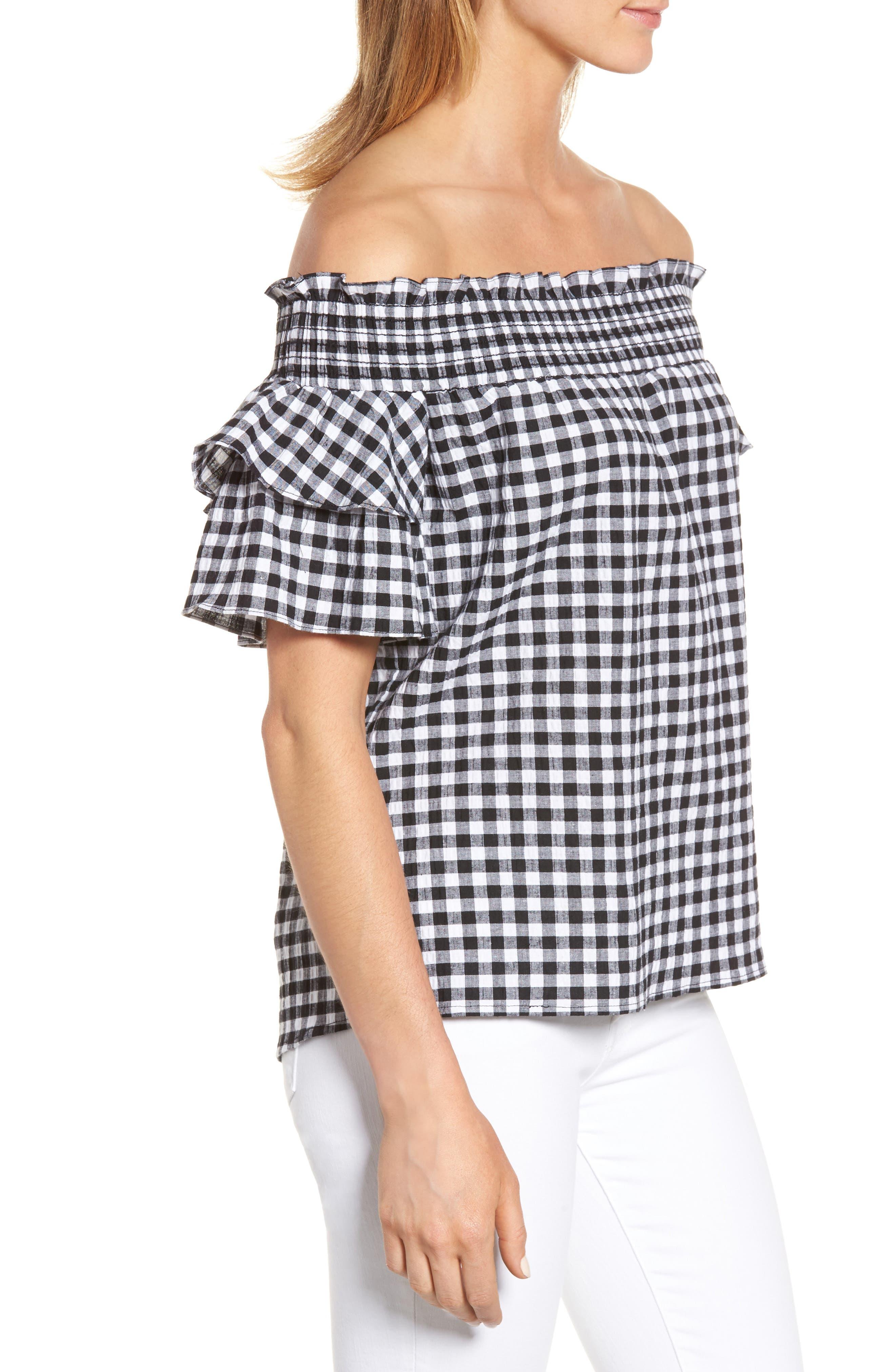 Alternate Image 3  - Caslon® Off the Shoulder Ruffle Sleeve Top (Regular & Petite)