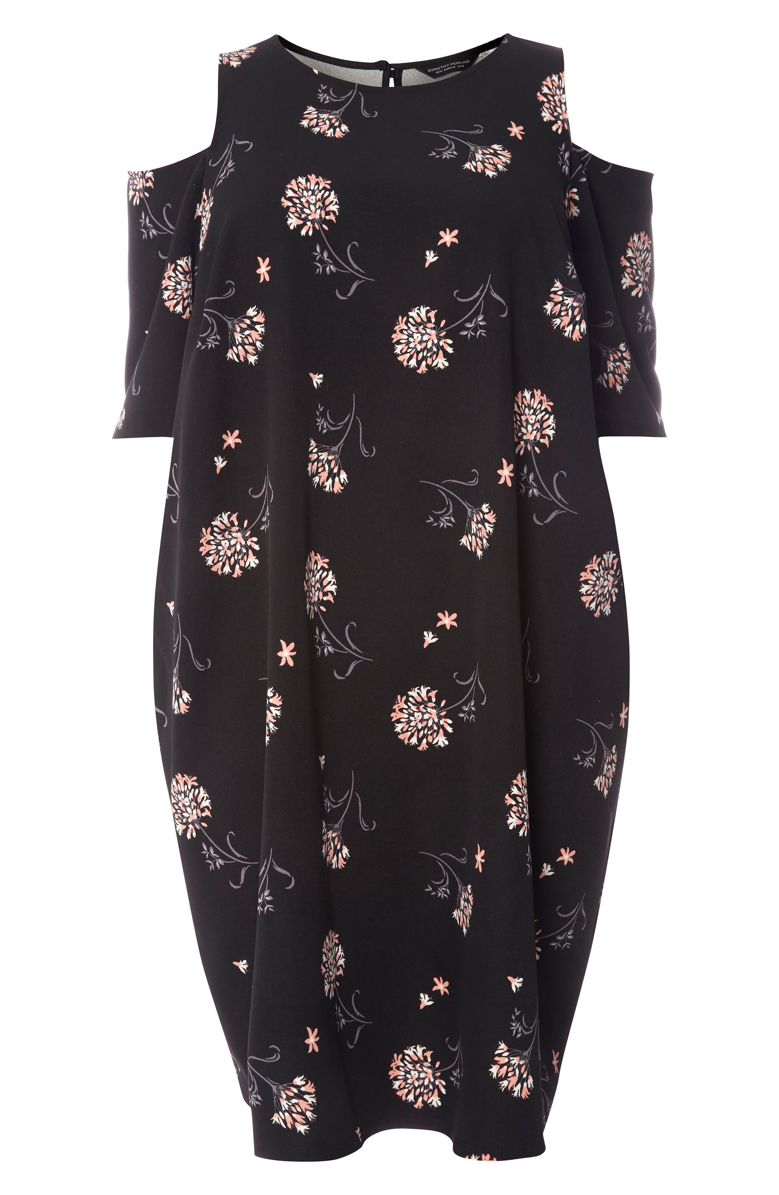 Alternate Image 5  - Dorothy Perkins Floral Cold Shoulder Shift Dress