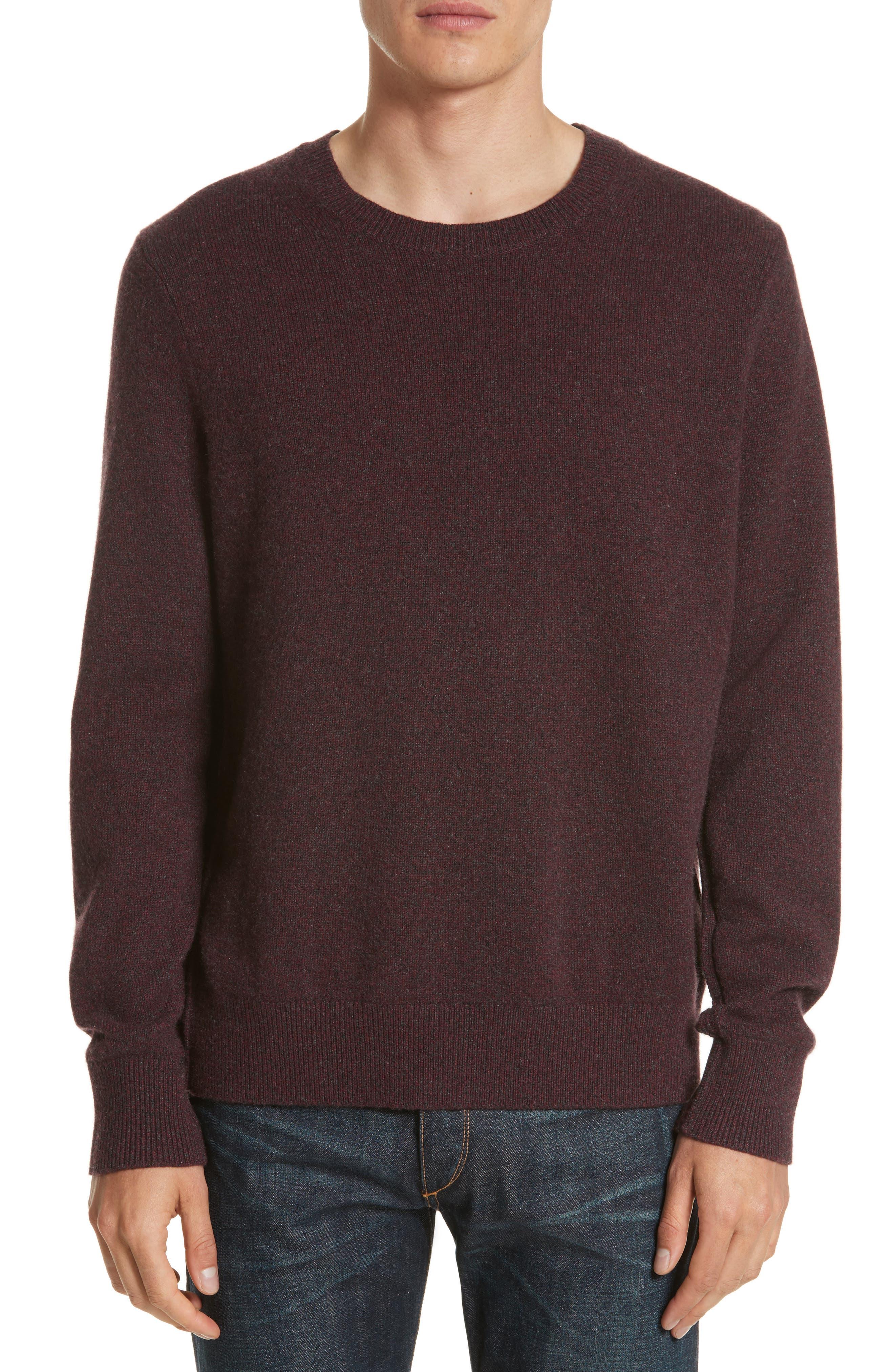 Holdon Cashmere Sweater,                             Main thumbnail 1, color,                             Burgundy