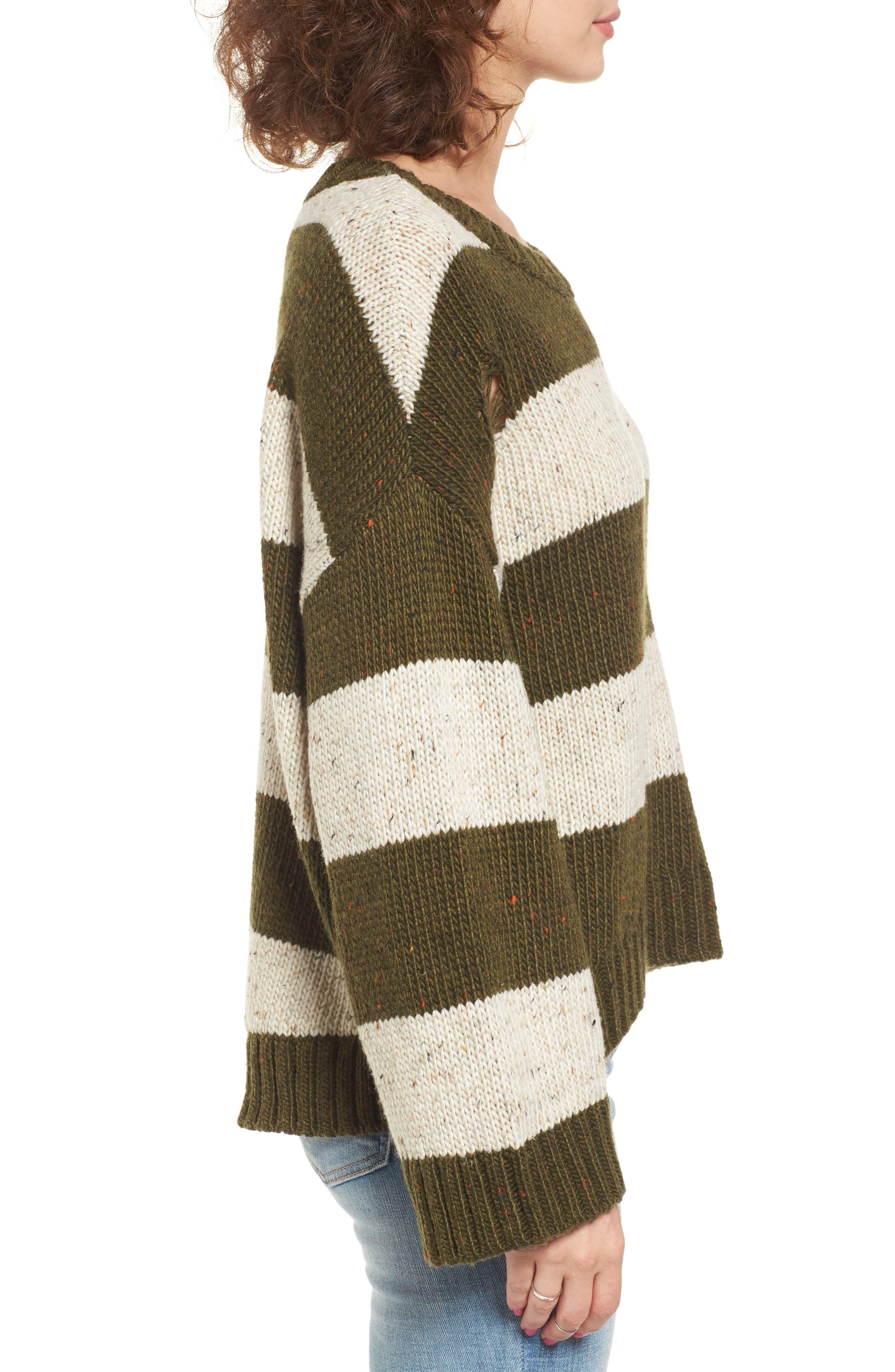 Alternate Image 3  - BP. Distressed Stripe Pullover