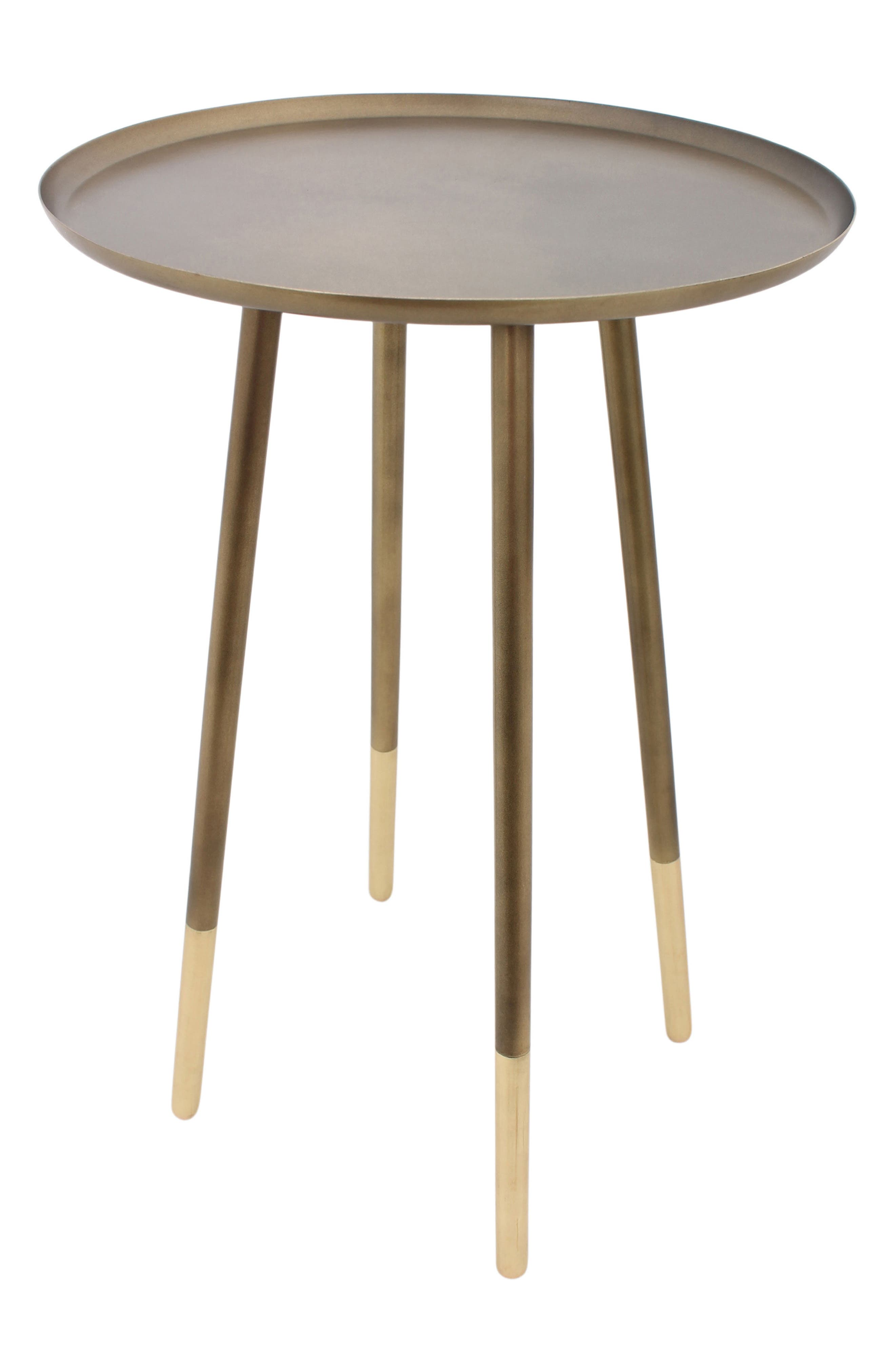 Iron Accent Table,                             Main thumbnail 1, color,                             Antique Brass