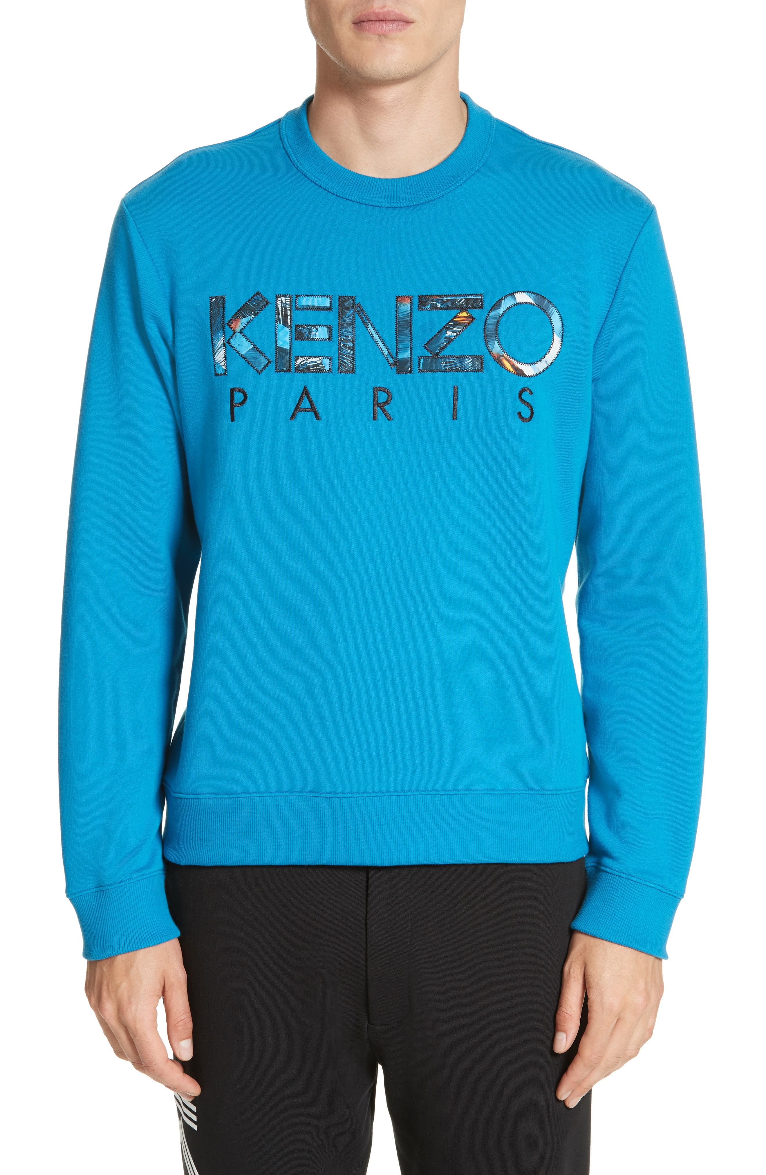 Cotton Pullover,                         Main,                         color, Duck Blue