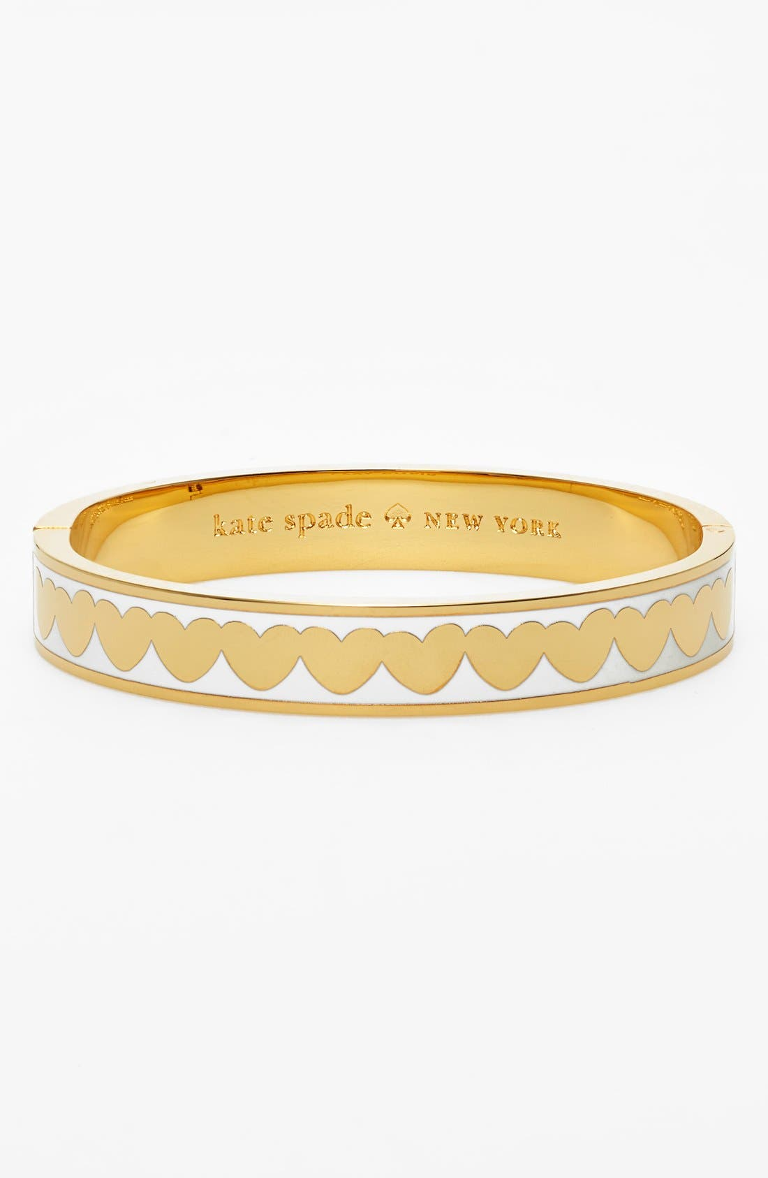 Main Image - kate spade new york 'idiom - play cupid' heart enamel hinged bangle