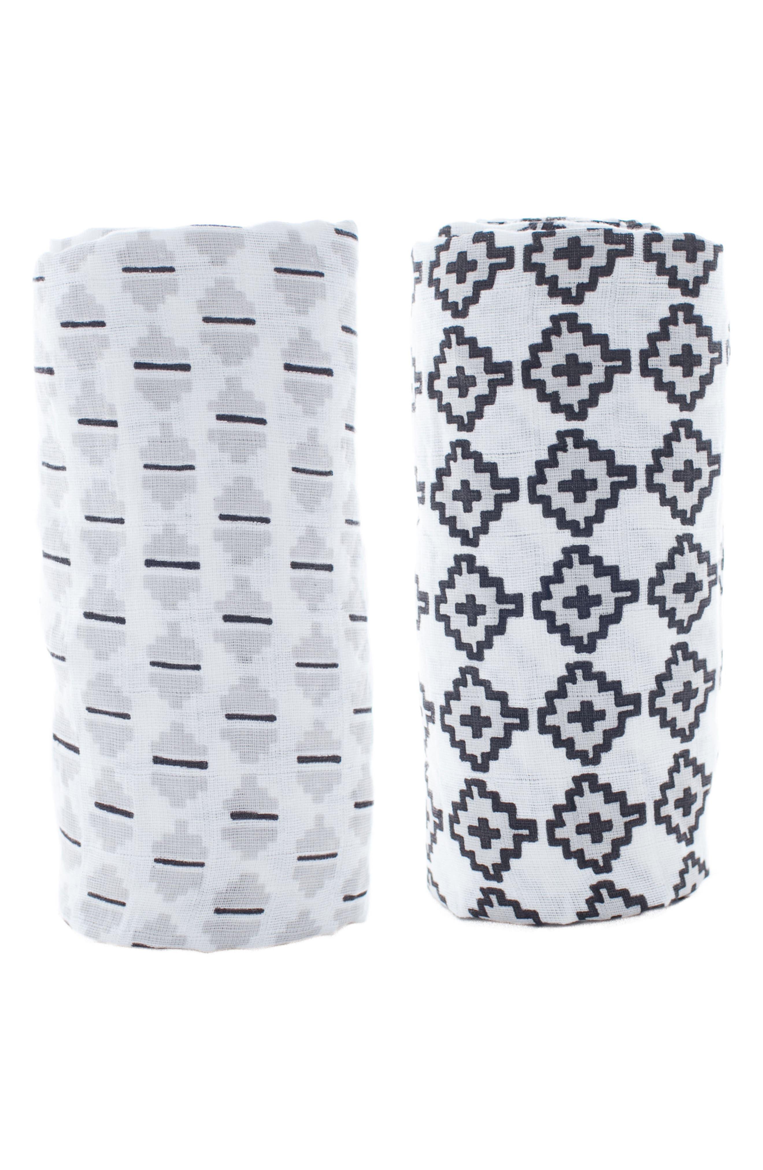 Lil Lemon by zestt Urban Geometry 2-Pack Organic Cotton Swaddle Blankets