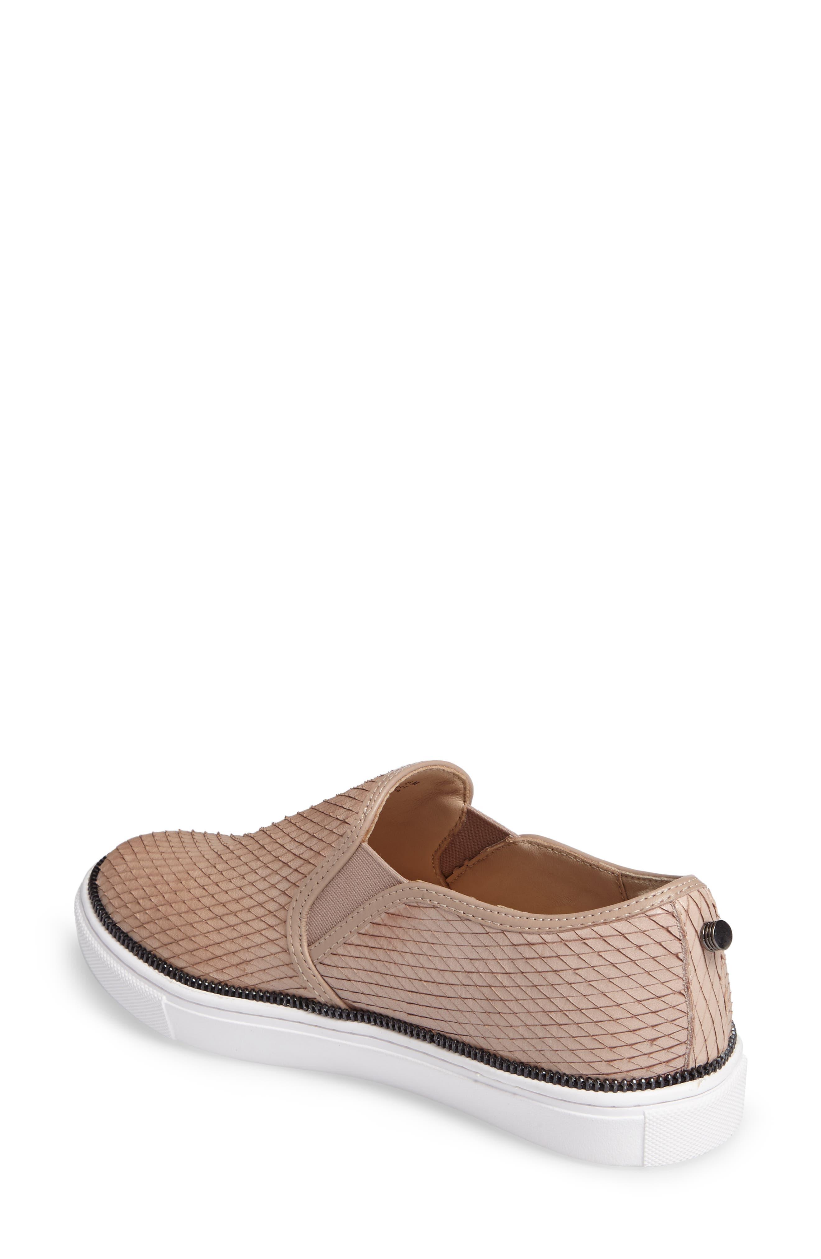 Harper Slip-On Sneaker,                             Alternate thumbnail 6, color,                             Blush Snake