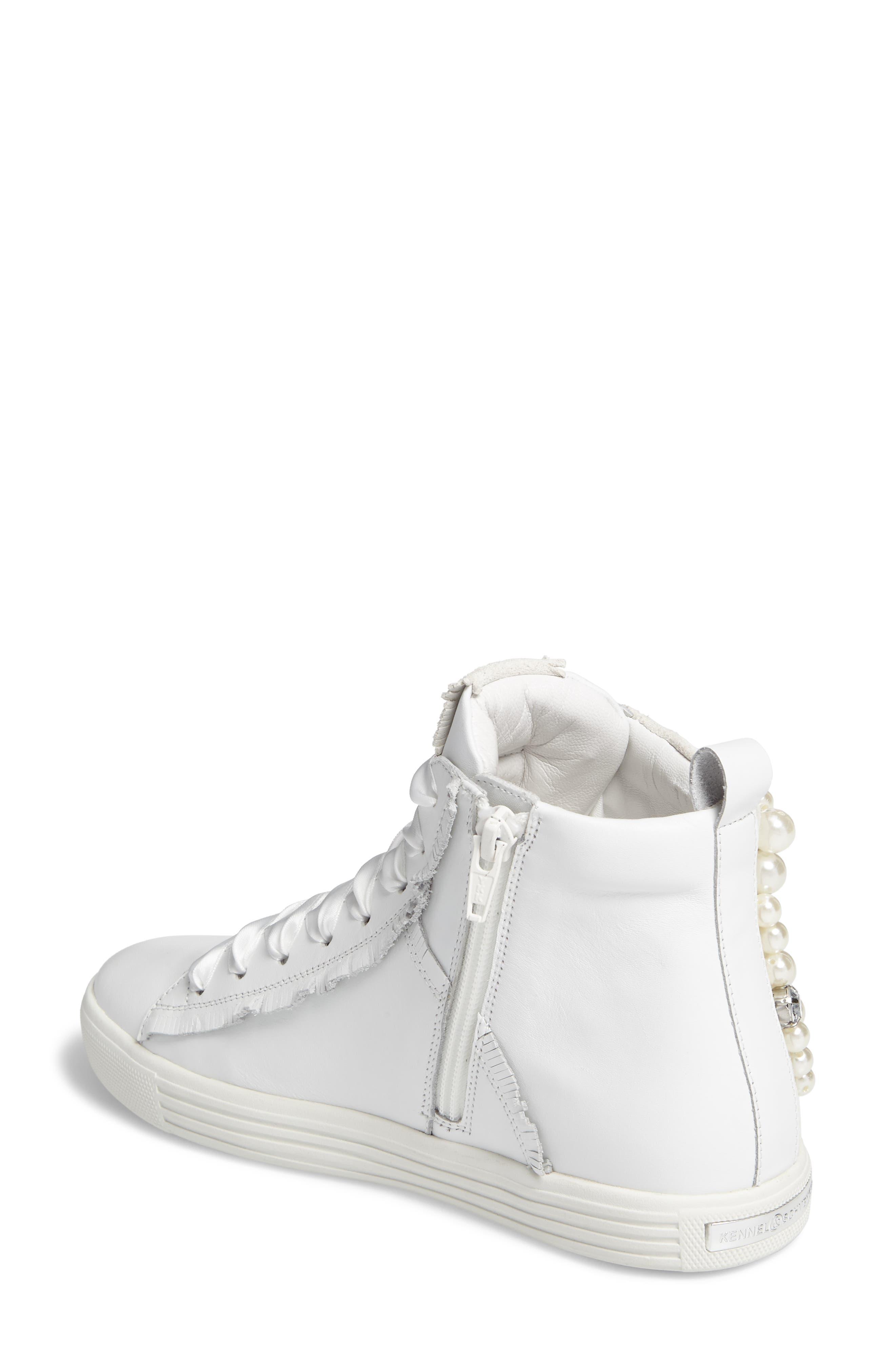 Kennel & Schmenger Town Flower High Top Sneaker,                             Alternate thumbnail 2, color,                             White