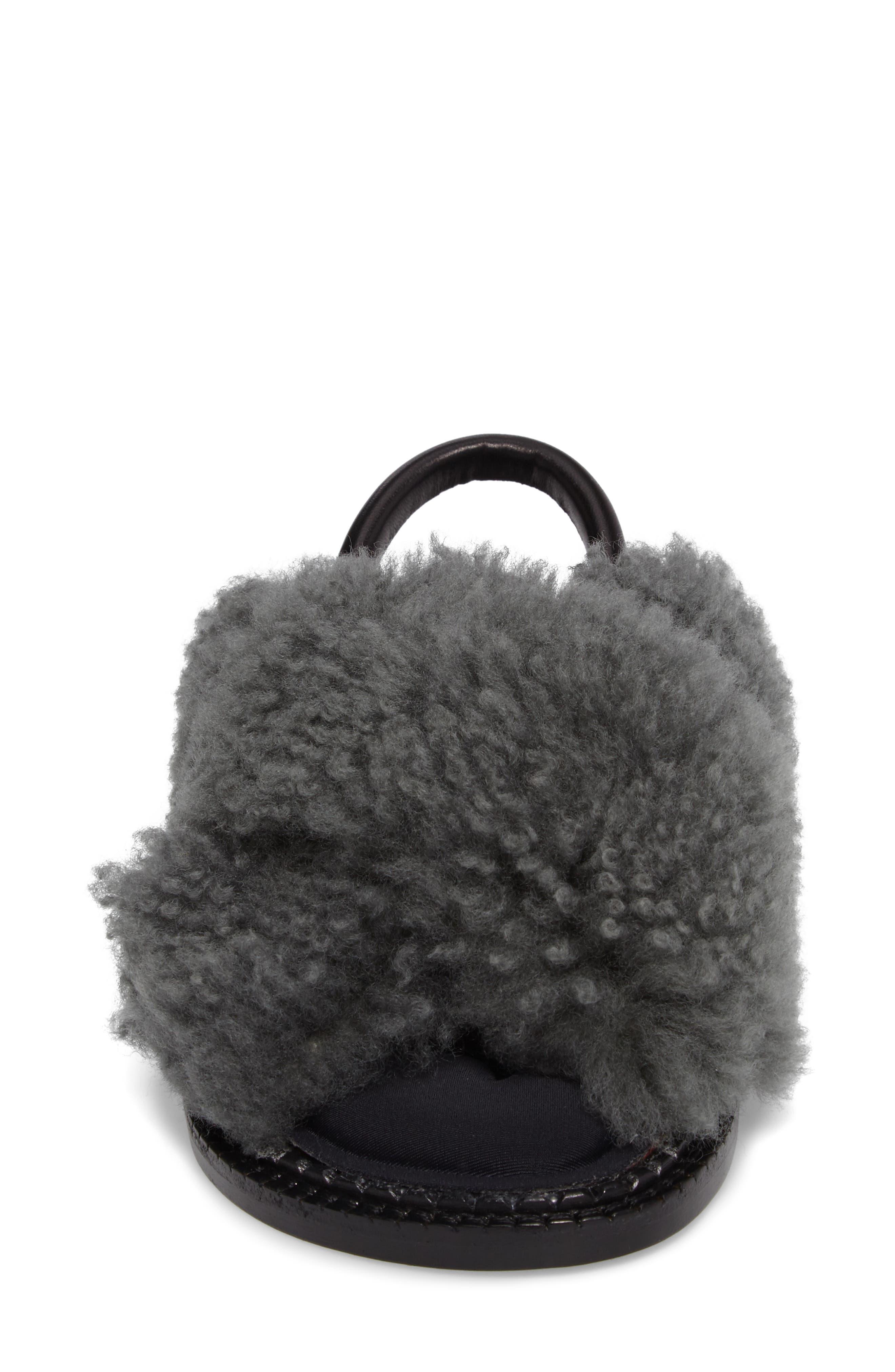 Alternate Image 4  - Robert Clergerie Bloss Genuine Fur Sandal (Women)