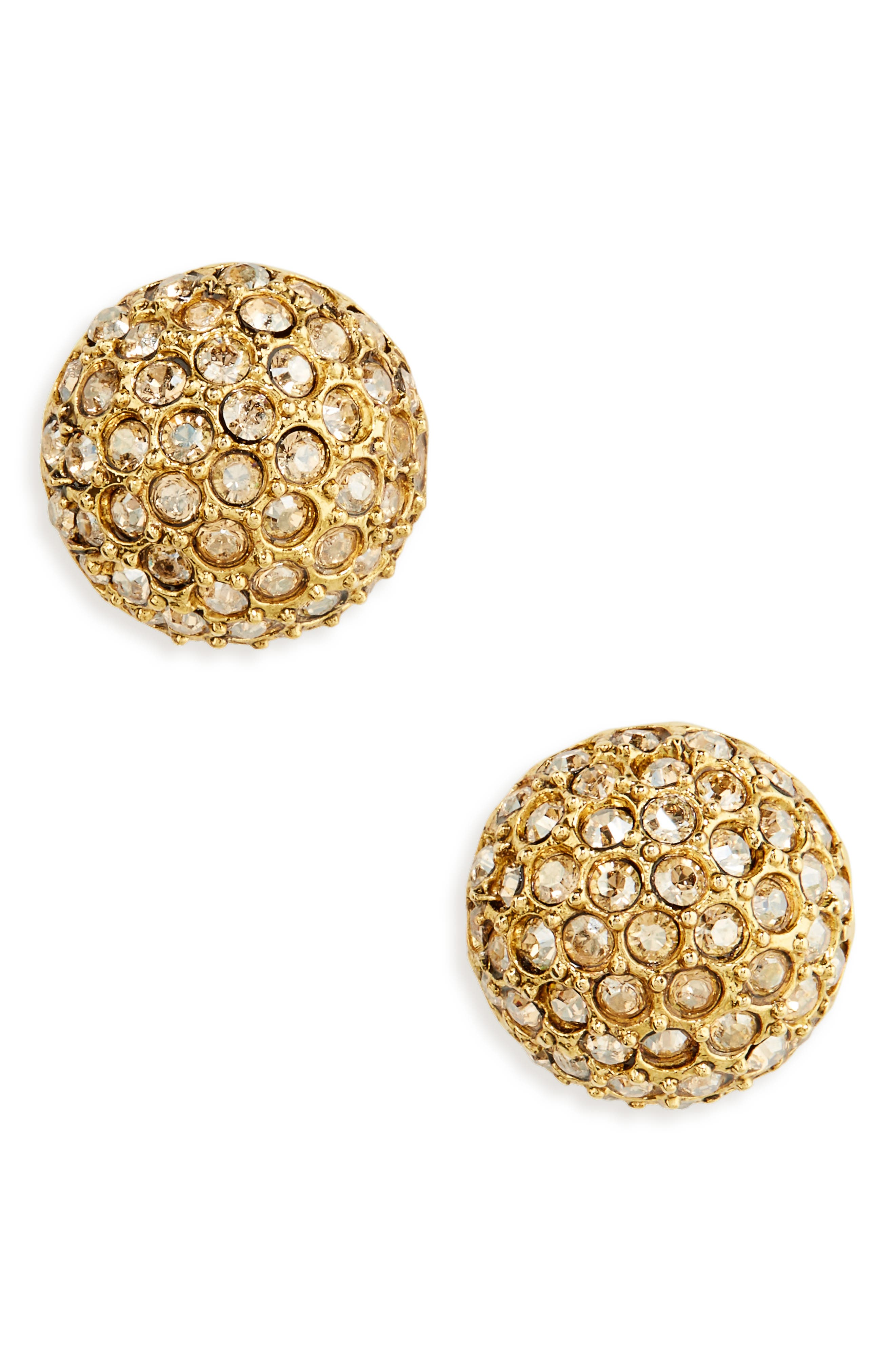 Main Image - Oscar de la Renta Dome Stud Earrings
