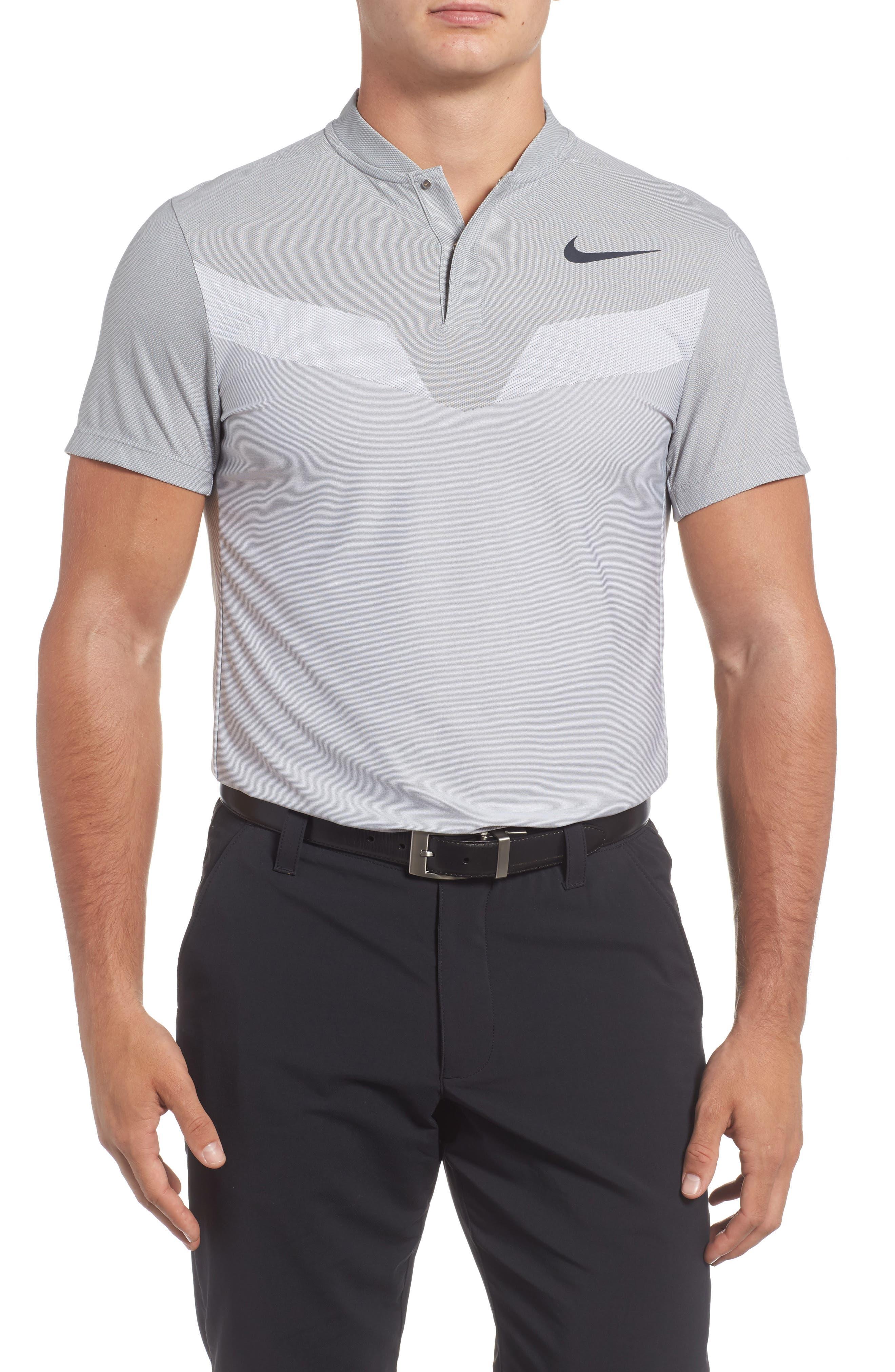 Golf Polo,                             Main thumbnail 1, color,                             Wolf Grey