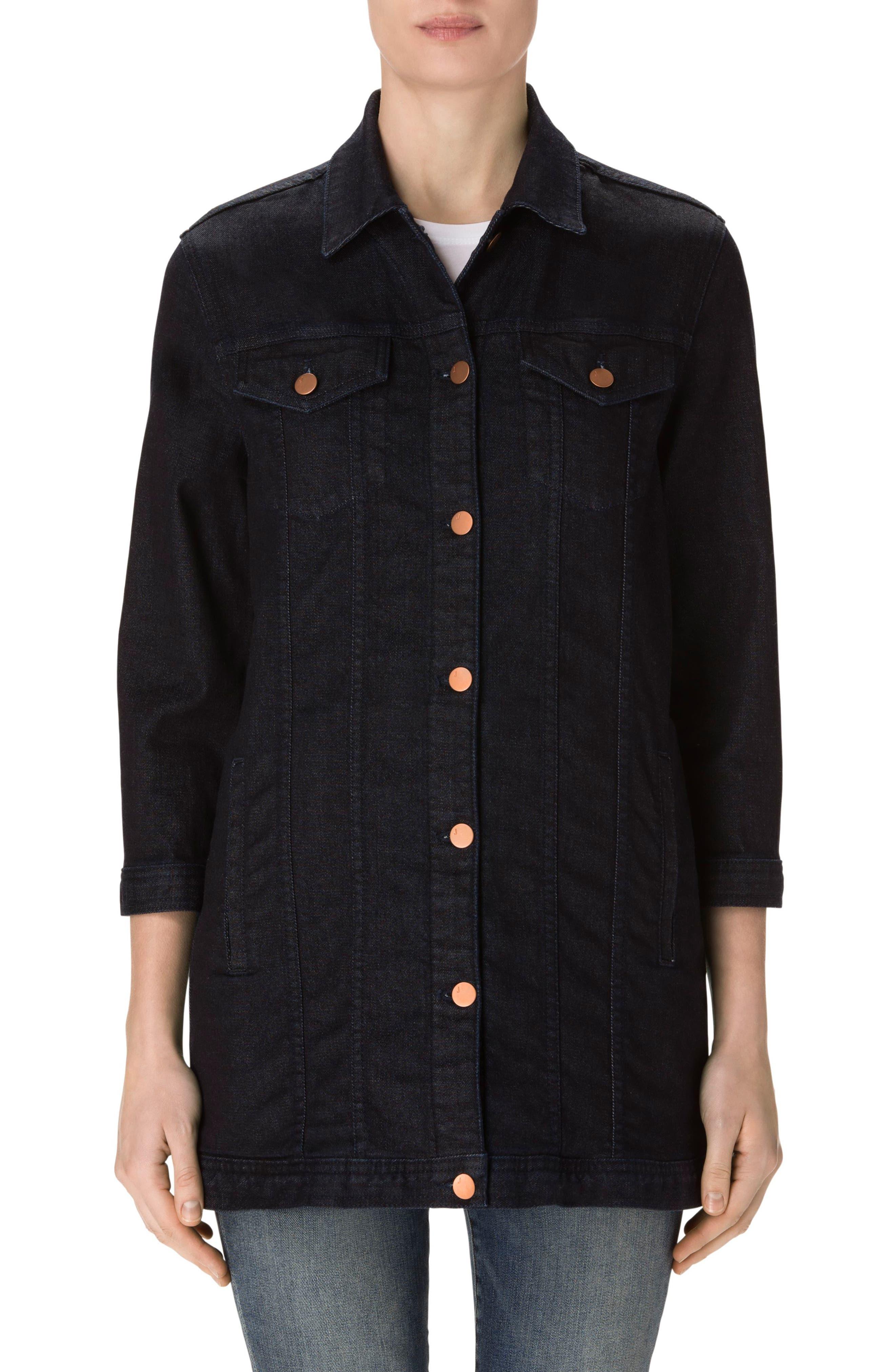 J BRAND Maxi Longline Denim Jacket