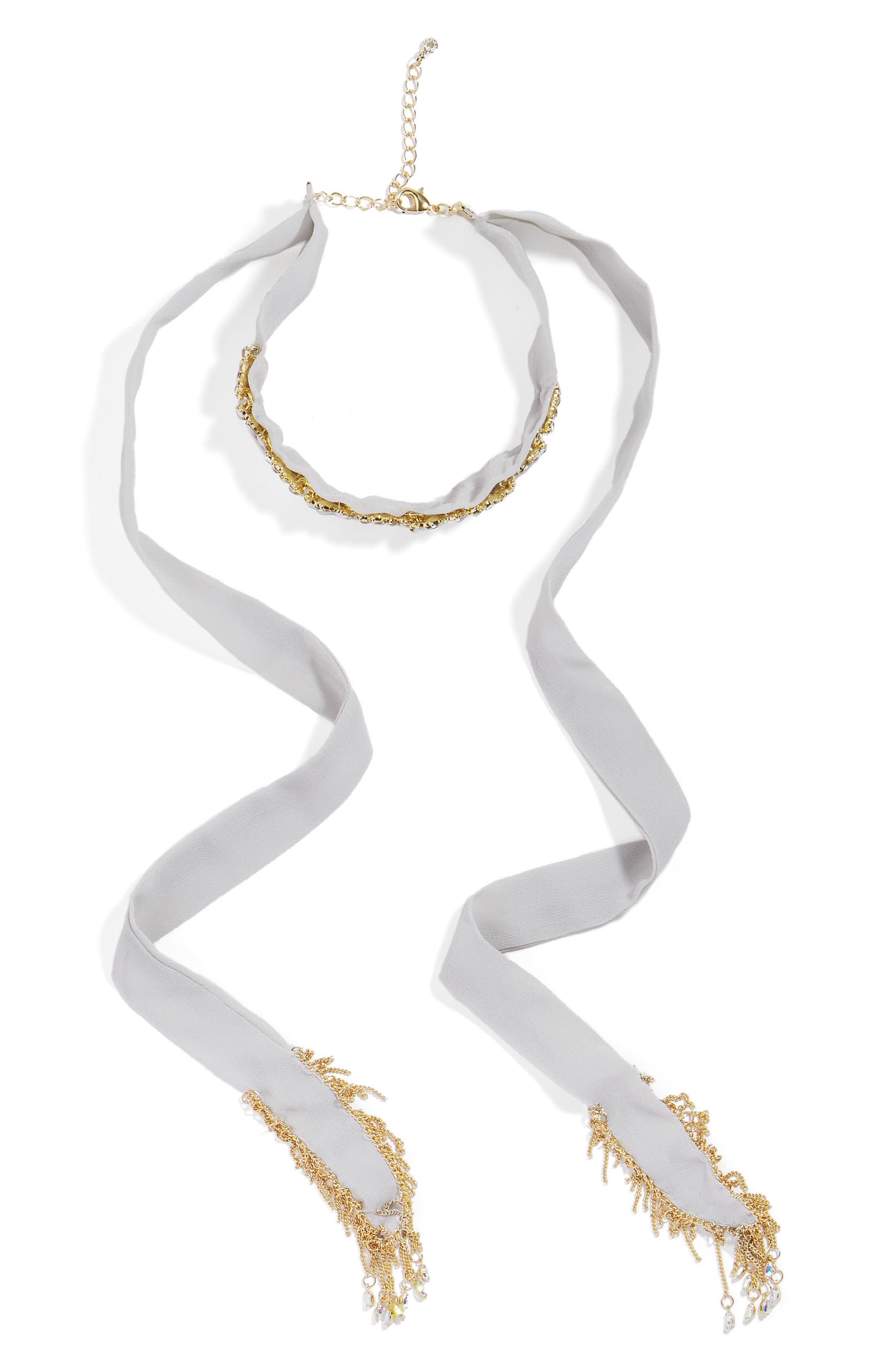 BaubleBar Sadia Crystal Choker Necklace