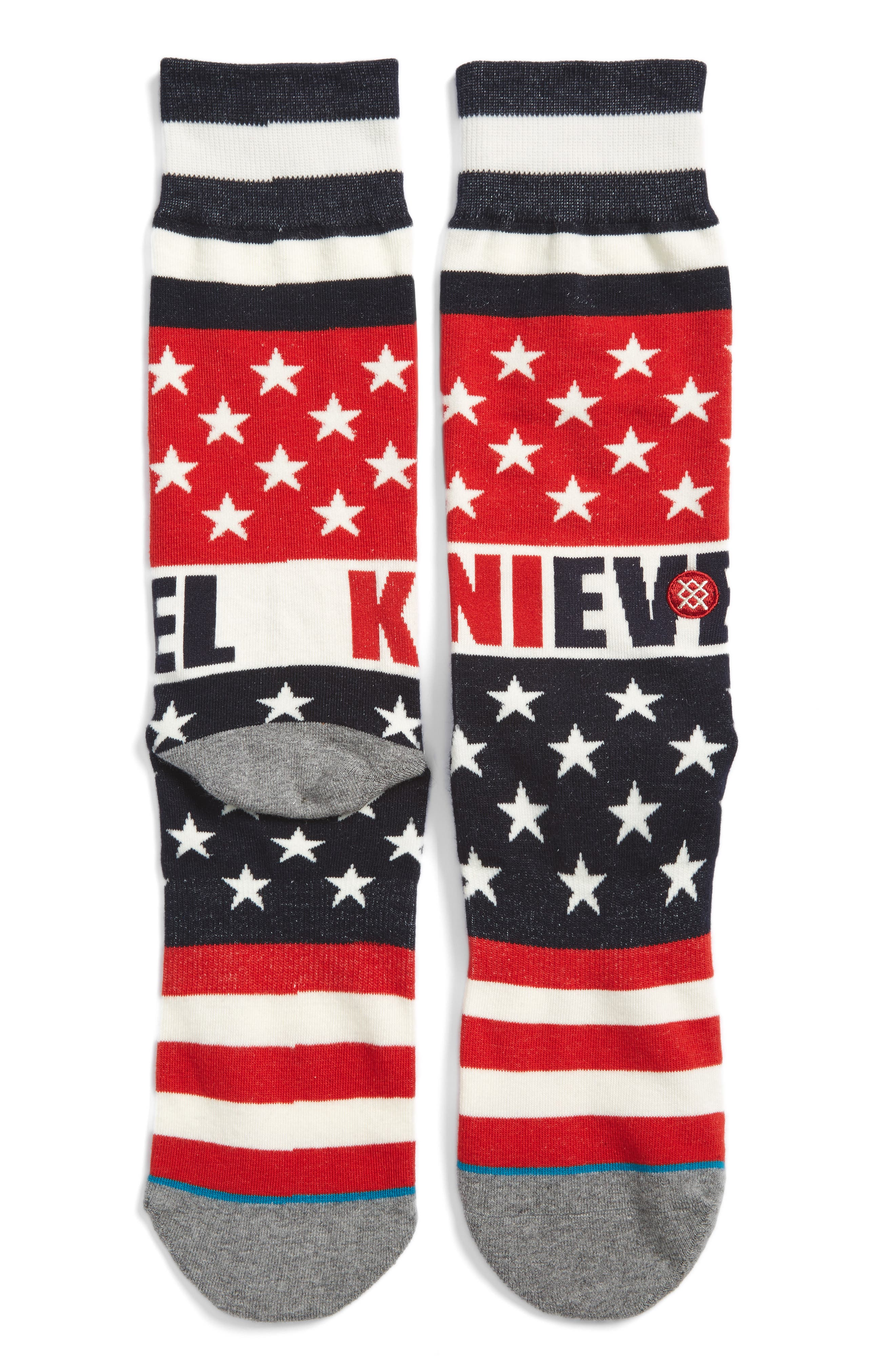 Evel Knievel x Stance Gladiator Socks,                         Main,                         color, Red