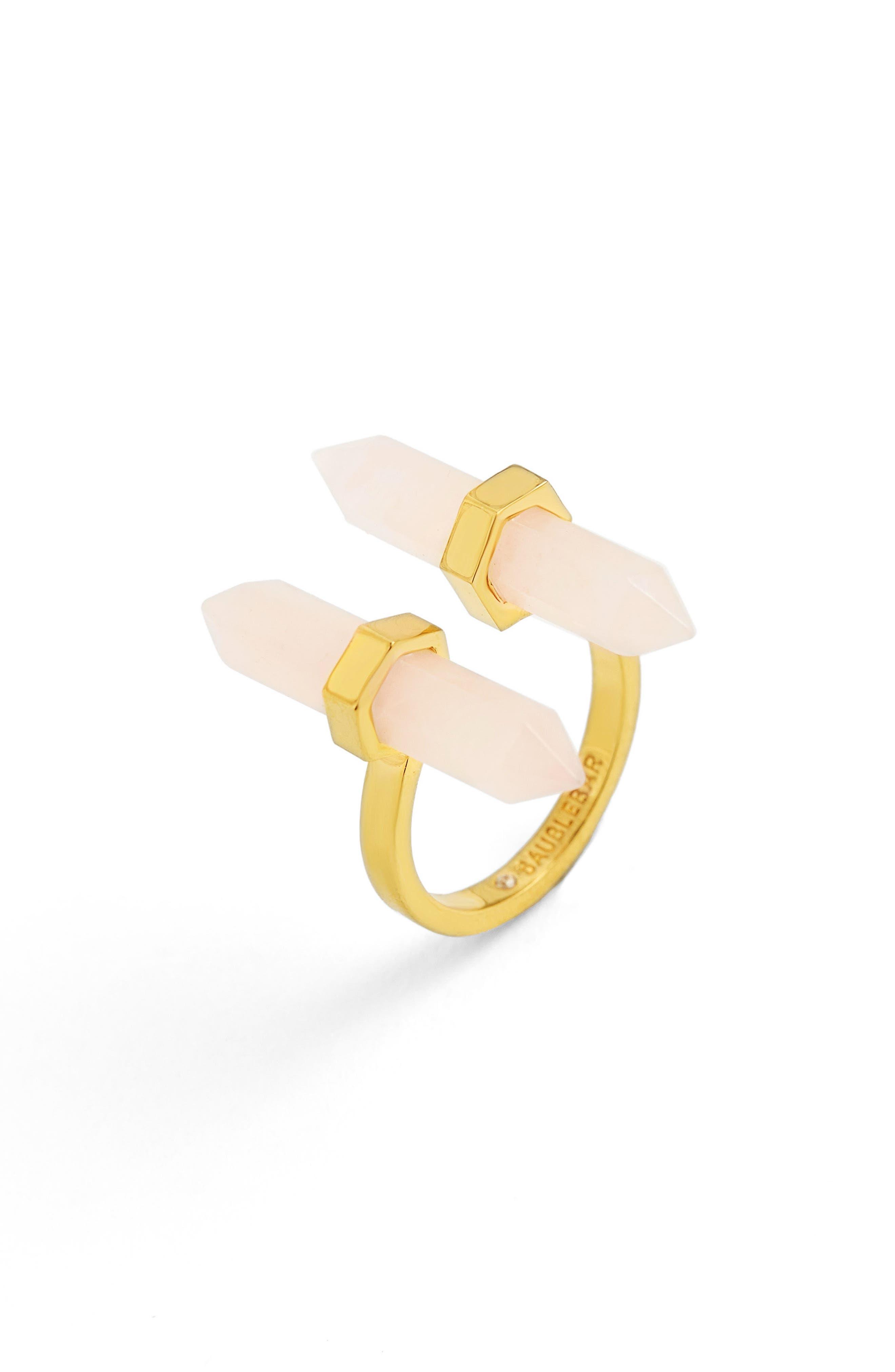 BaubleBar Faden Quartz Open Ring