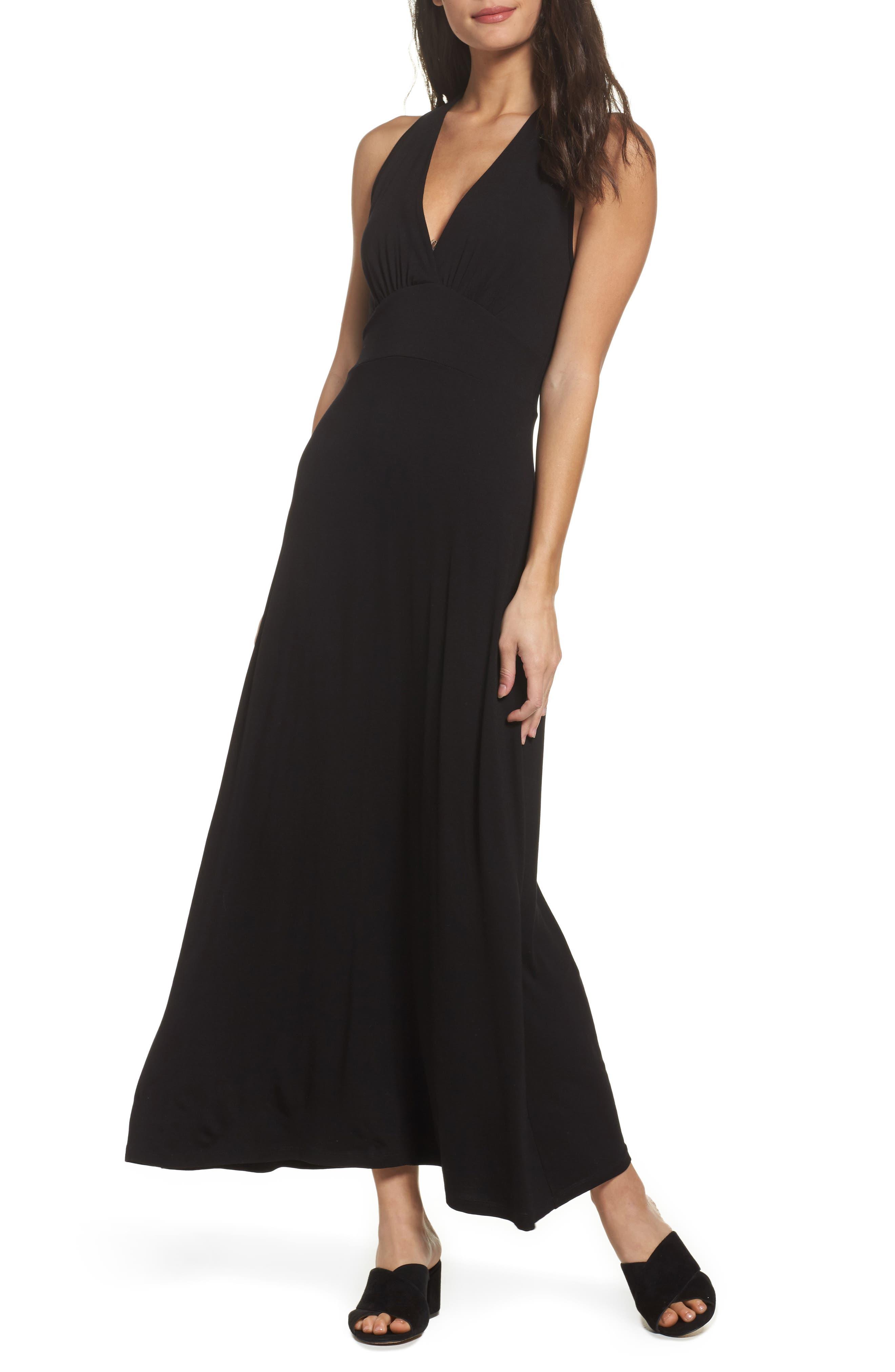 Maxi Dress,                         Main,                         color, Black