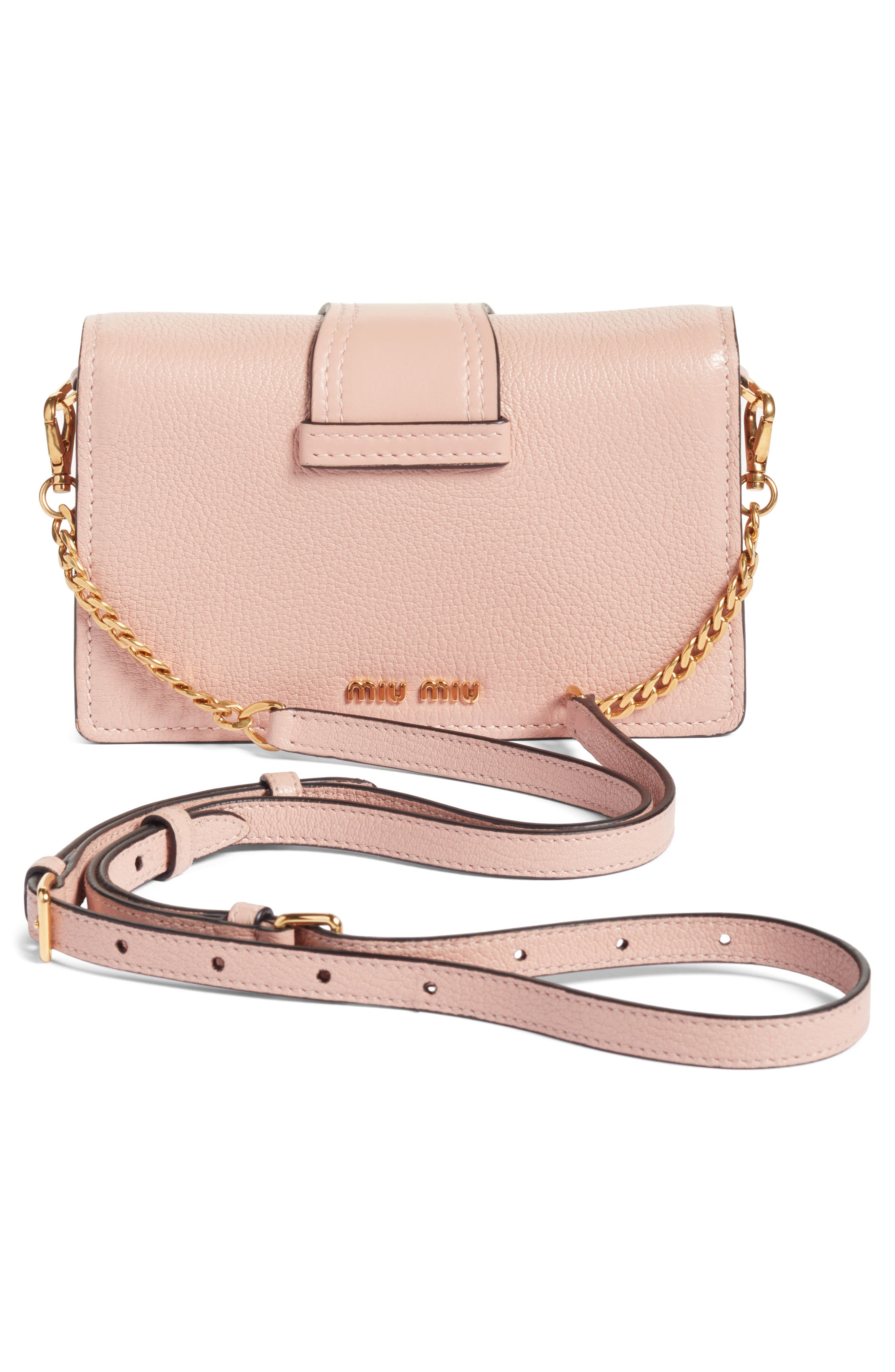 Lady Madras Crystal Embellished Leather Crossbody Bag,                             Alternate thumbnail 3, color,                             Orchidea