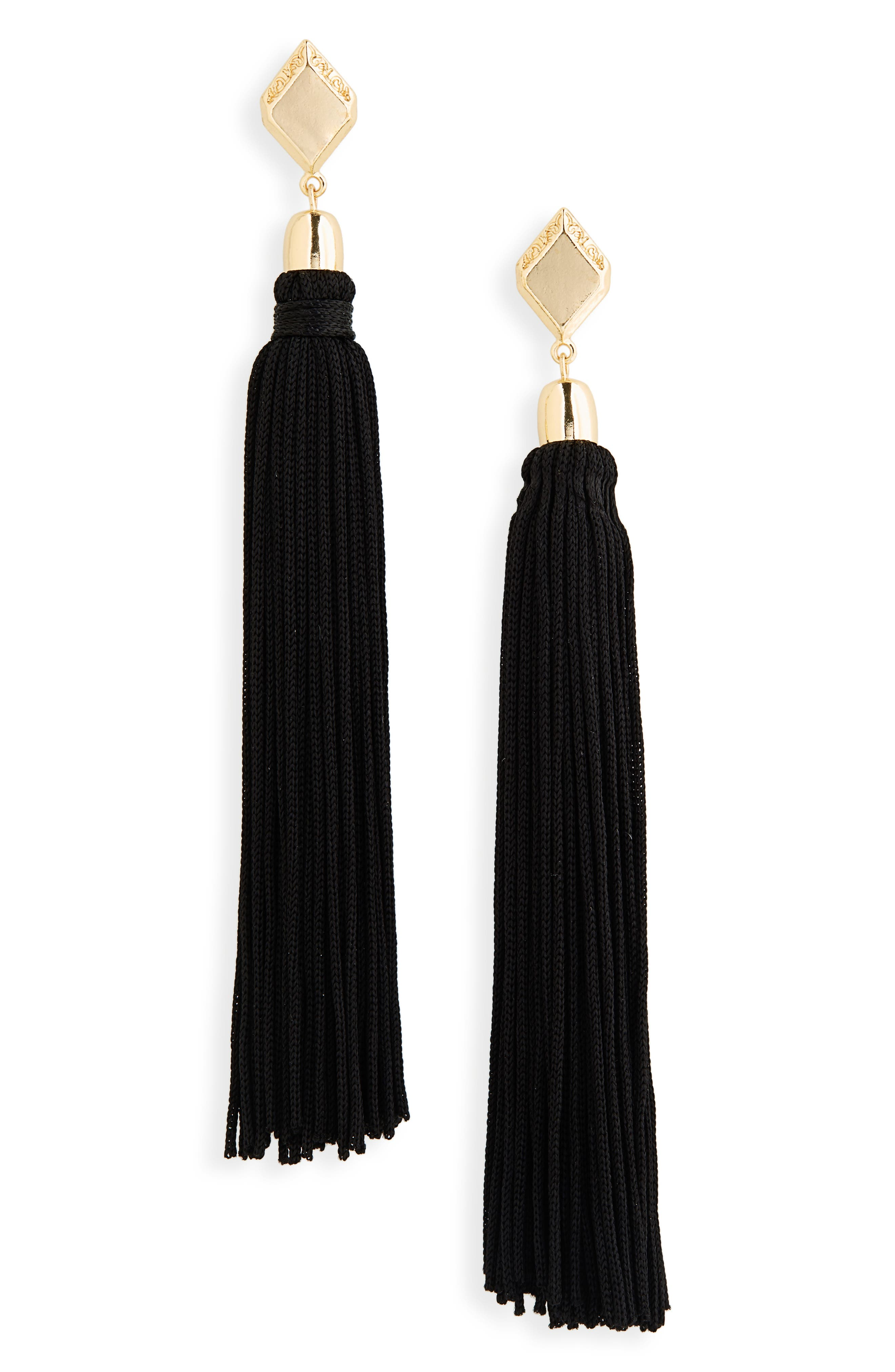 ETTIKA Silk Tassel Drop Earrings