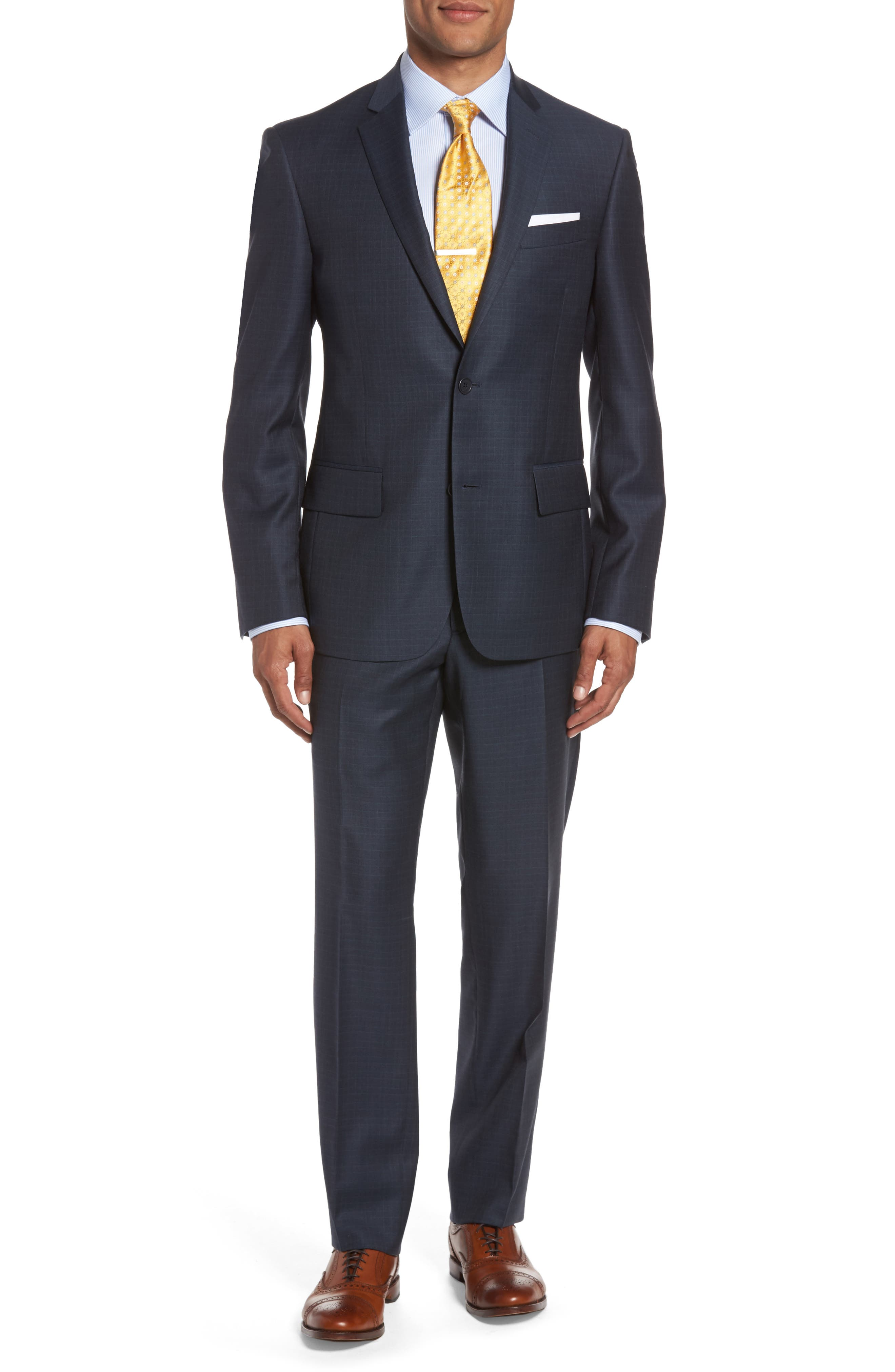 NORDSTROM MENS SHOP Classic Fit Check Wool Suit